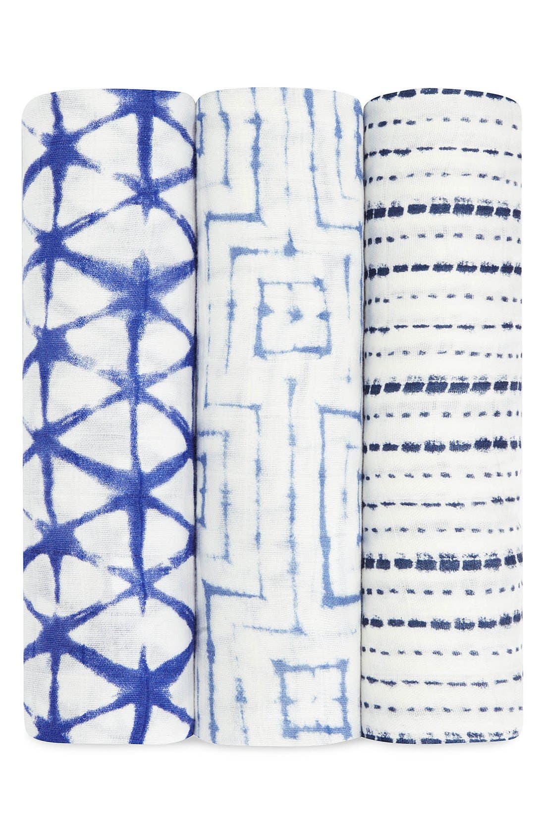 'Silky Soft' Swaddling Cloths,                         Main,                         color, Blue