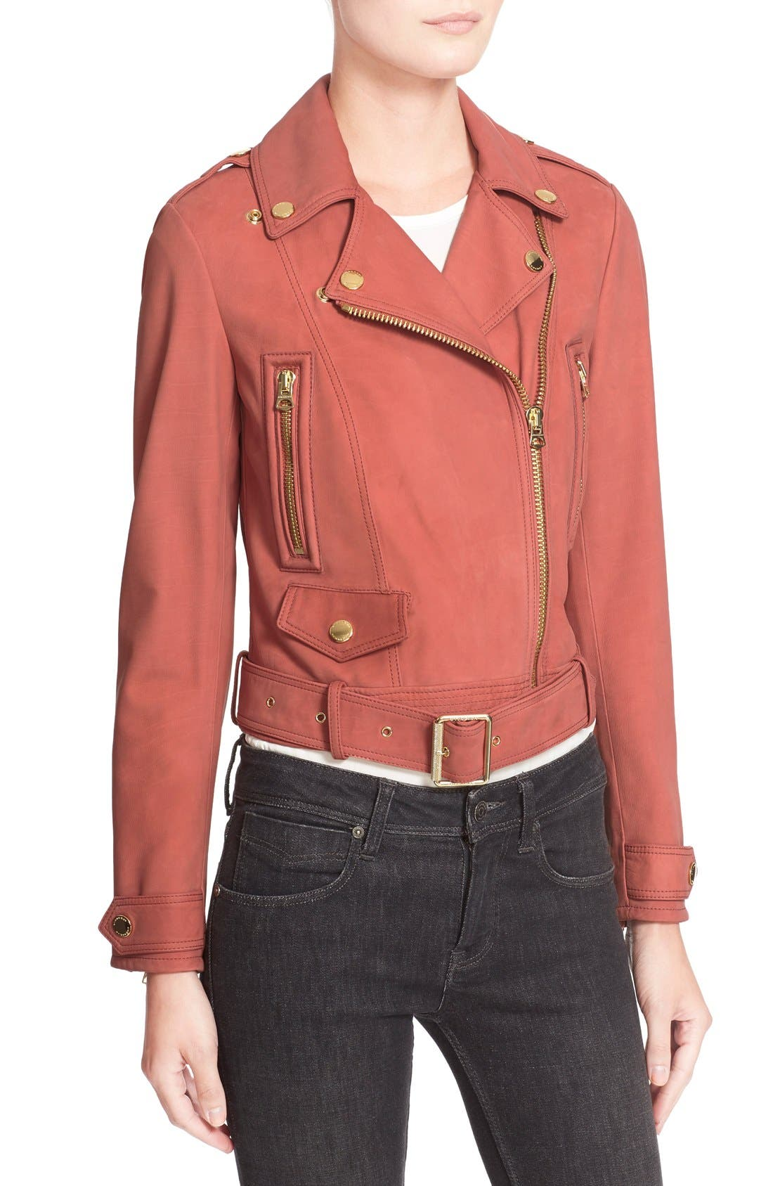 Alternate Image 6  - Burberry Brit 'Pattersby' Suede Moto Jacket