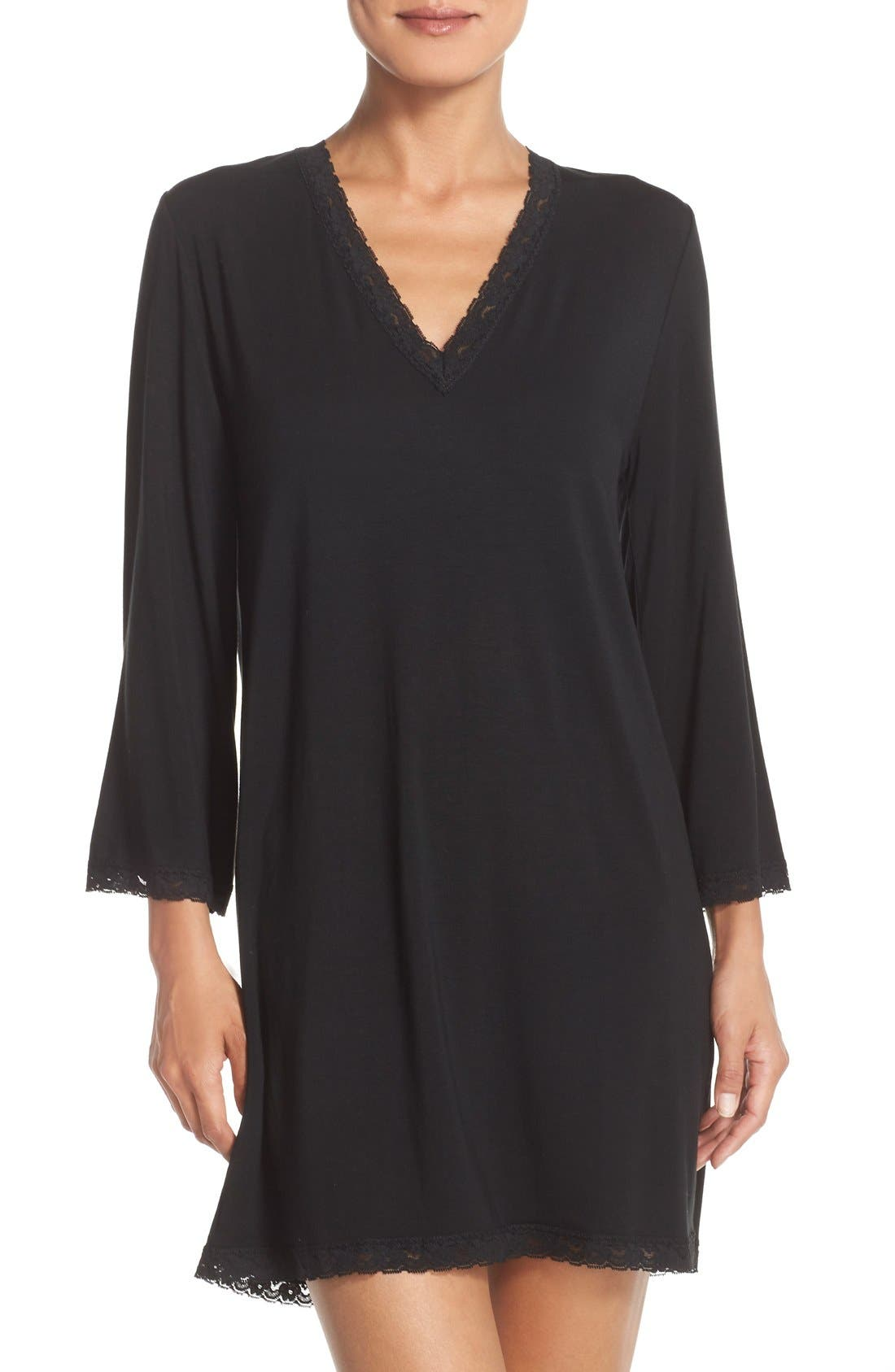 Barefoot Dreams® 'Luxe Milk' Jersey Nightshirt