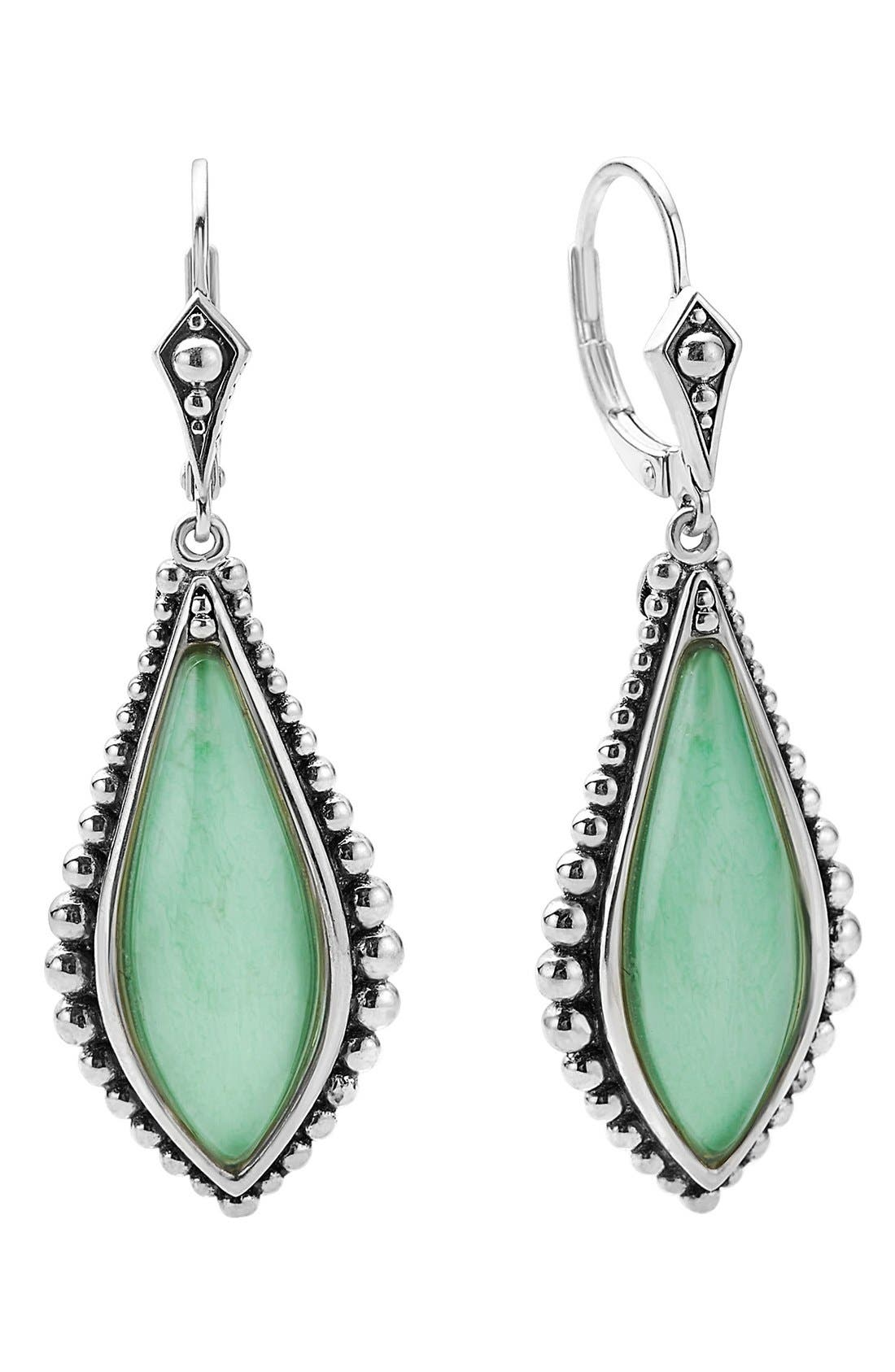 'Contessa' Semiprecious Stone Drop Earrings,                             Main thumbnail 1, color,                             Variscite