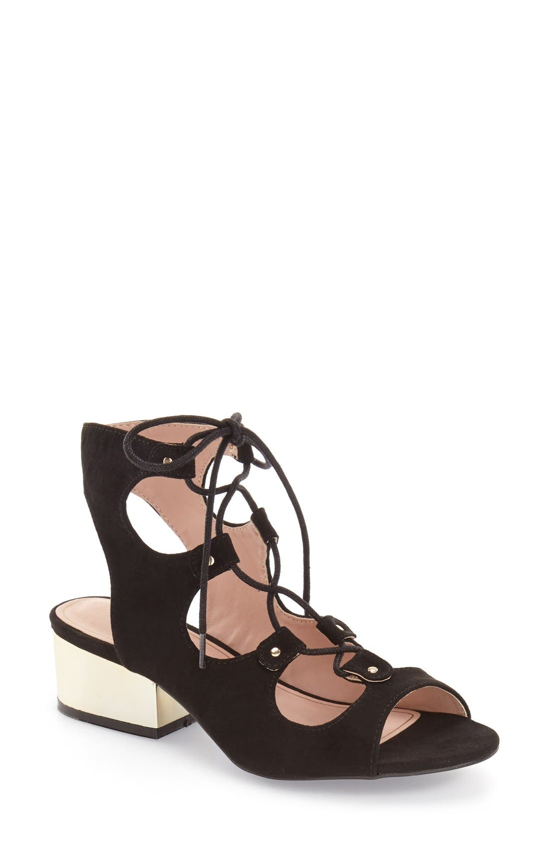Alternate Image 1 Selected - Topshop 'Daily' Ghillie Sandal (Women)