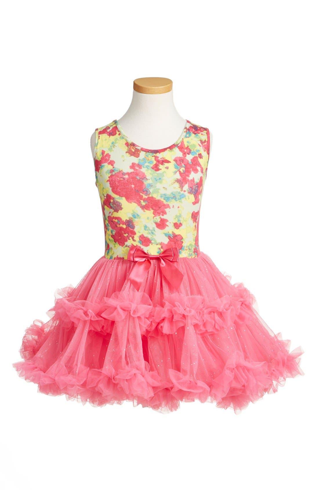 Popatu Floral Print Tutu Dress (Toddler Girls & Little Girls)