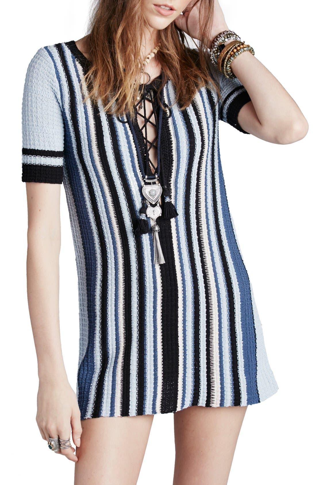 Main Image - Free People 'Lollipop' Cotton Sweater Dress