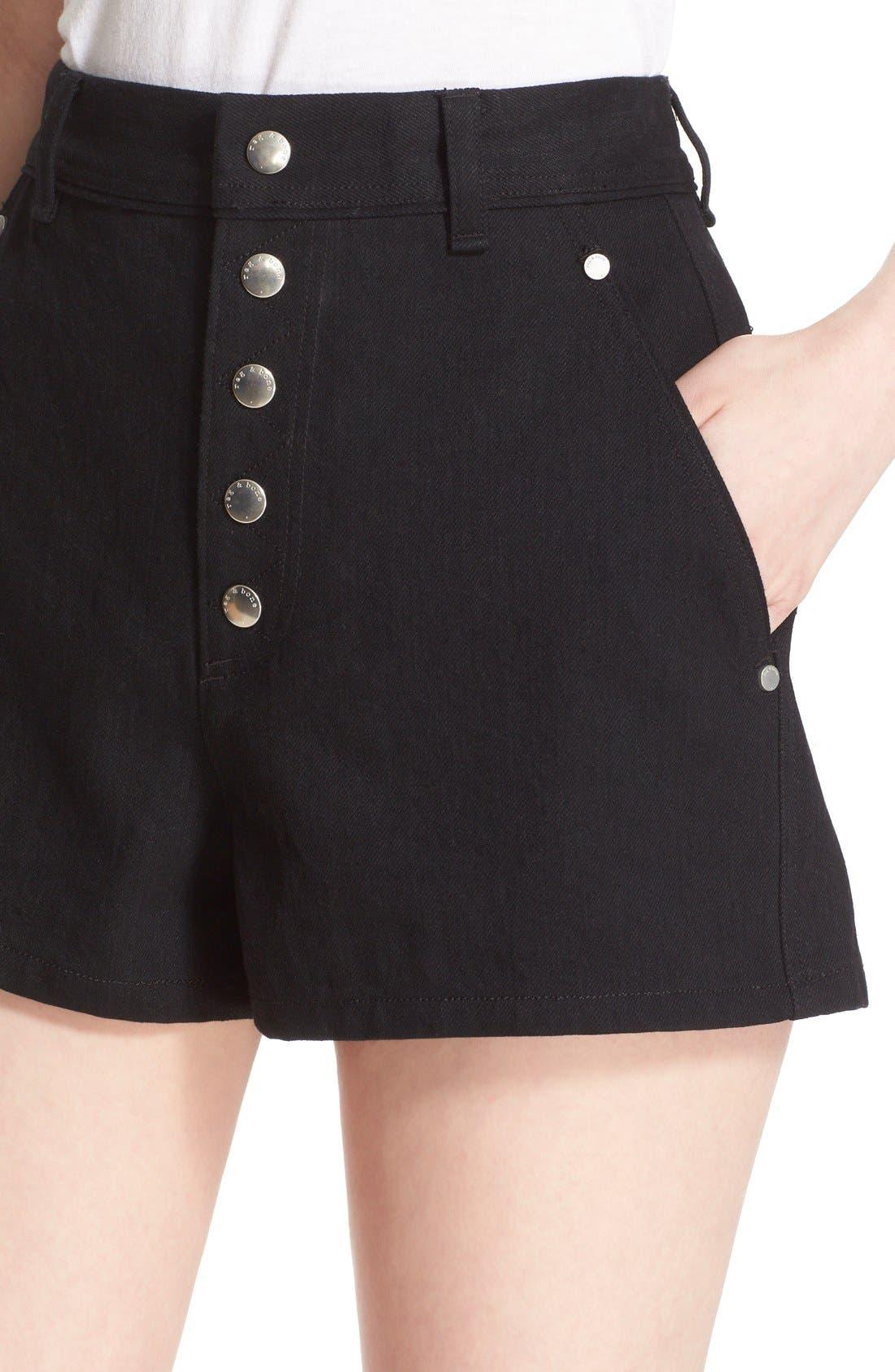 Alternate Image 4  - rag & bone 'Branson' High Waist Shorts