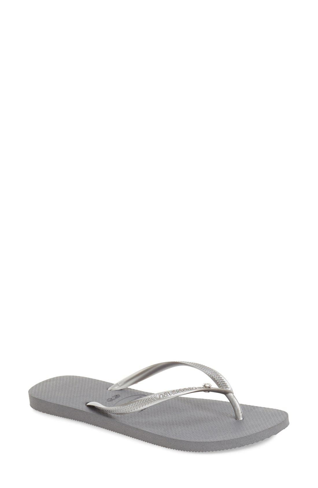 Main Image - Havaianas 'Slim Crystal Glamour' Flip Flop (Women)