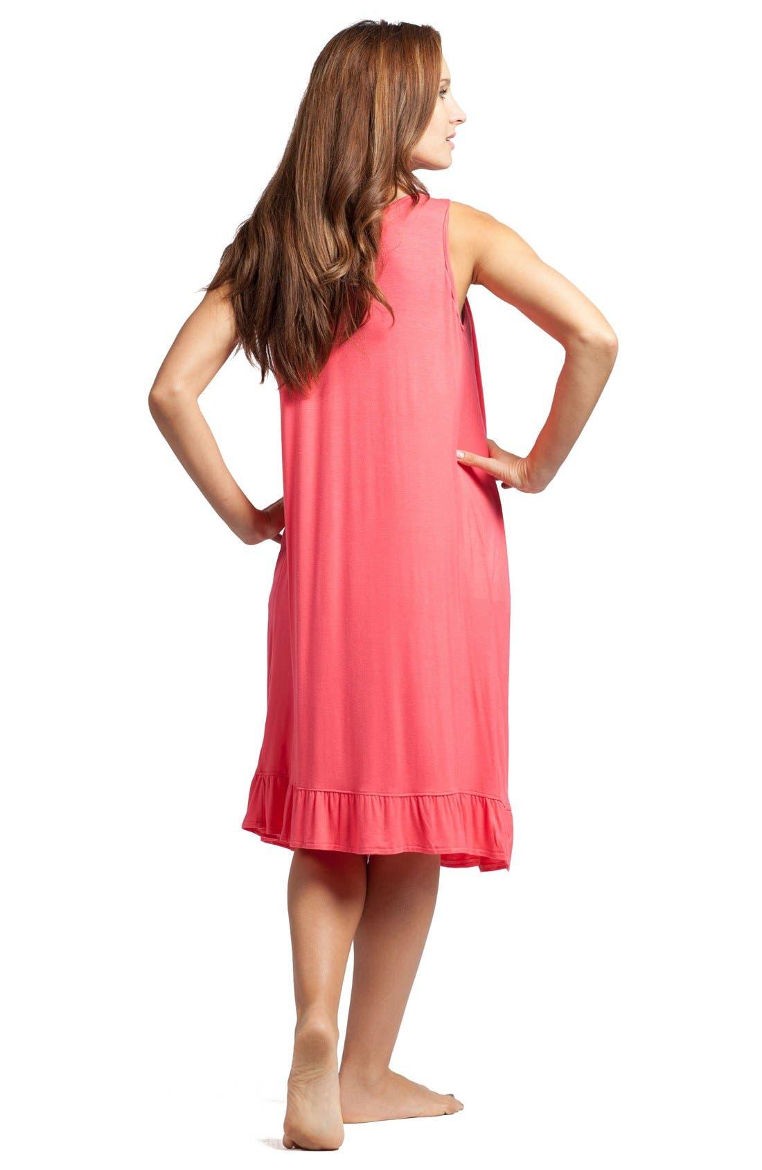 Alternate Image 2  - Savi Mom 'The Ruffled' Sleeveless Maternity/Nursing Nightgown