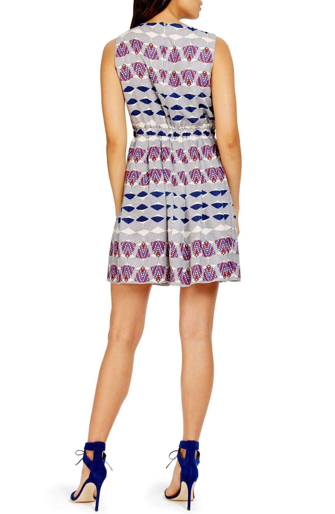 Alternate Image 2  - Donna Morgan Print Twill Blouson Dress