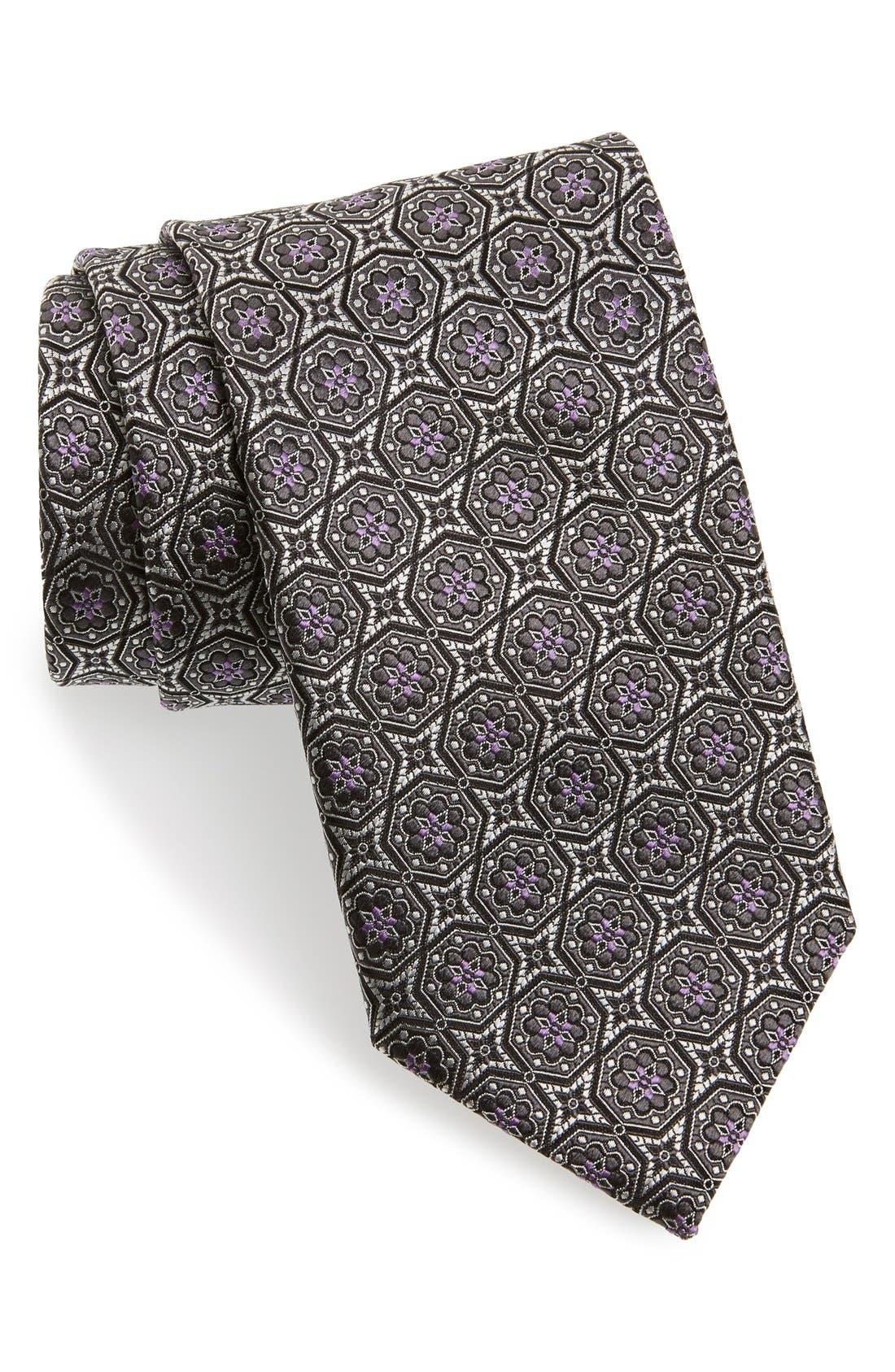 Main Image - Canali Medallion Silk Tie