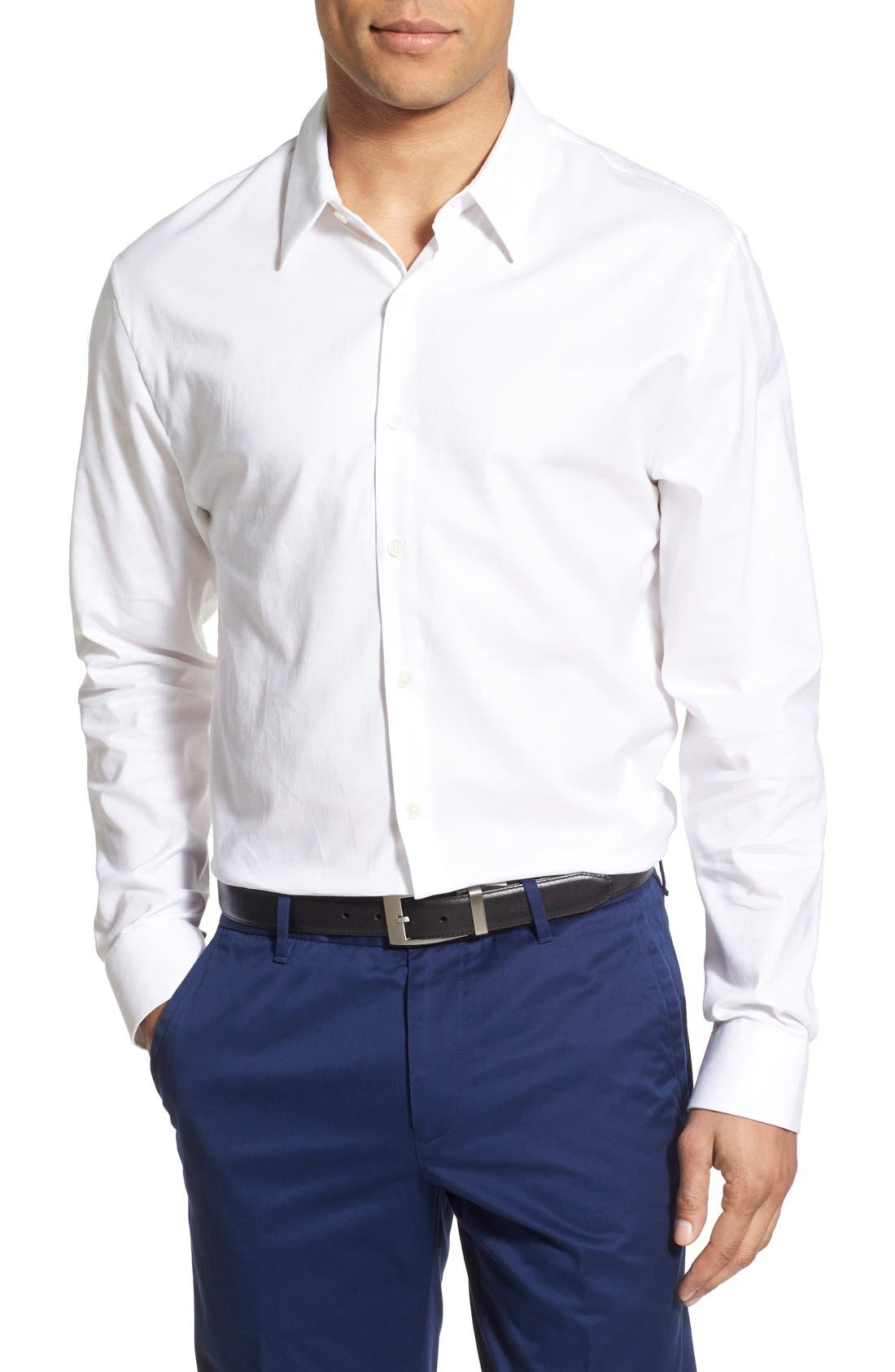 Alternate Image 1 Selected - James Perse Trim Fit Sport Shirt