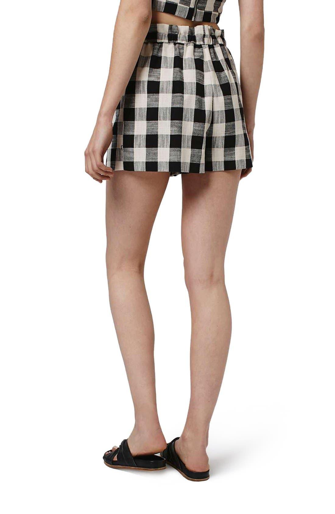 Alternate Image 3  - Topshop Gingham Paperbag Shorts