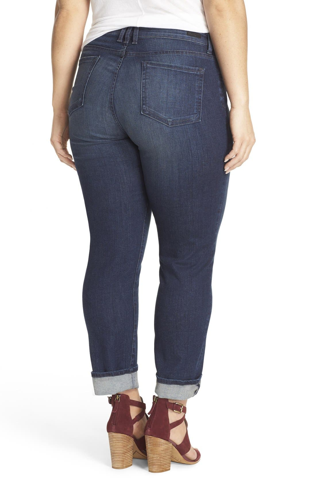 'Catherine' Stretch Boyfriend Jeans,                             Alternate thumbnail 2, color,                             Carefulness