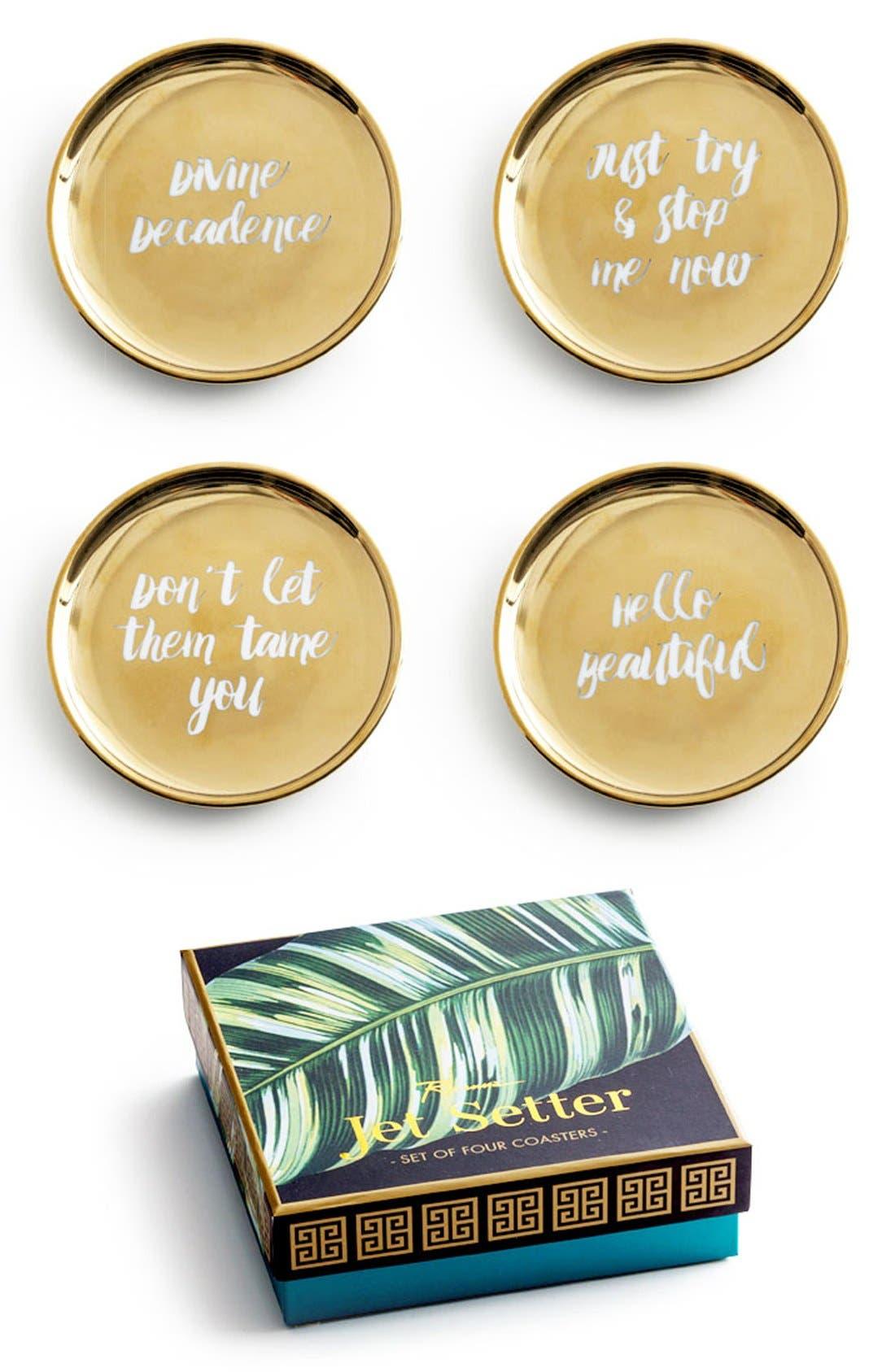 Rosanna Gold Trim Porcelain Coasters (Set of 4)