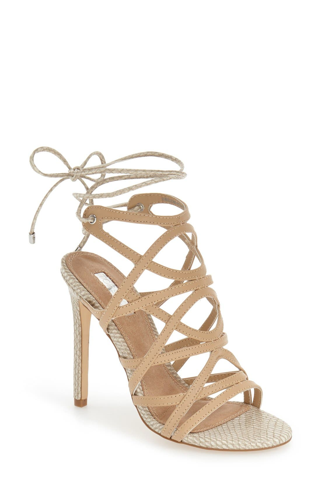 Alternate Image 1 Selected - Topshop 'Rascal' Cage Sandal (Women)