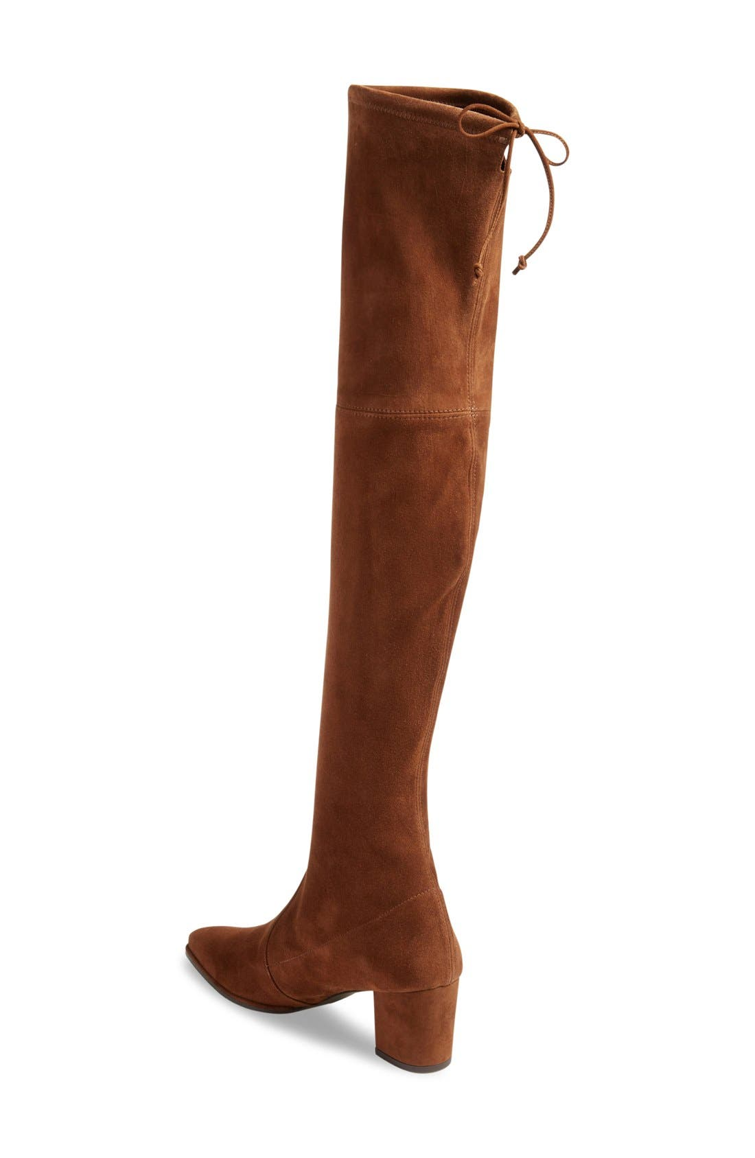 Thighland Over the Knee Boot,                             Alternate thumbnail 2, color,                             Walnut Suede