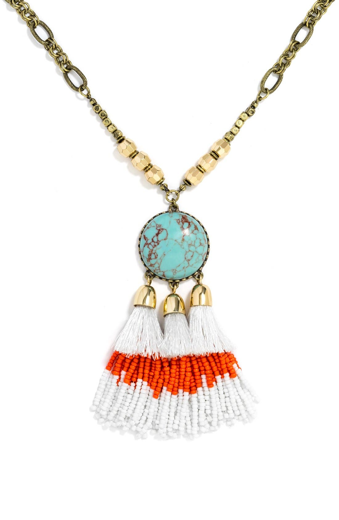 Alternate Image 2  - BaubleBar 'Rhodes' Tassel Pendant Necklace