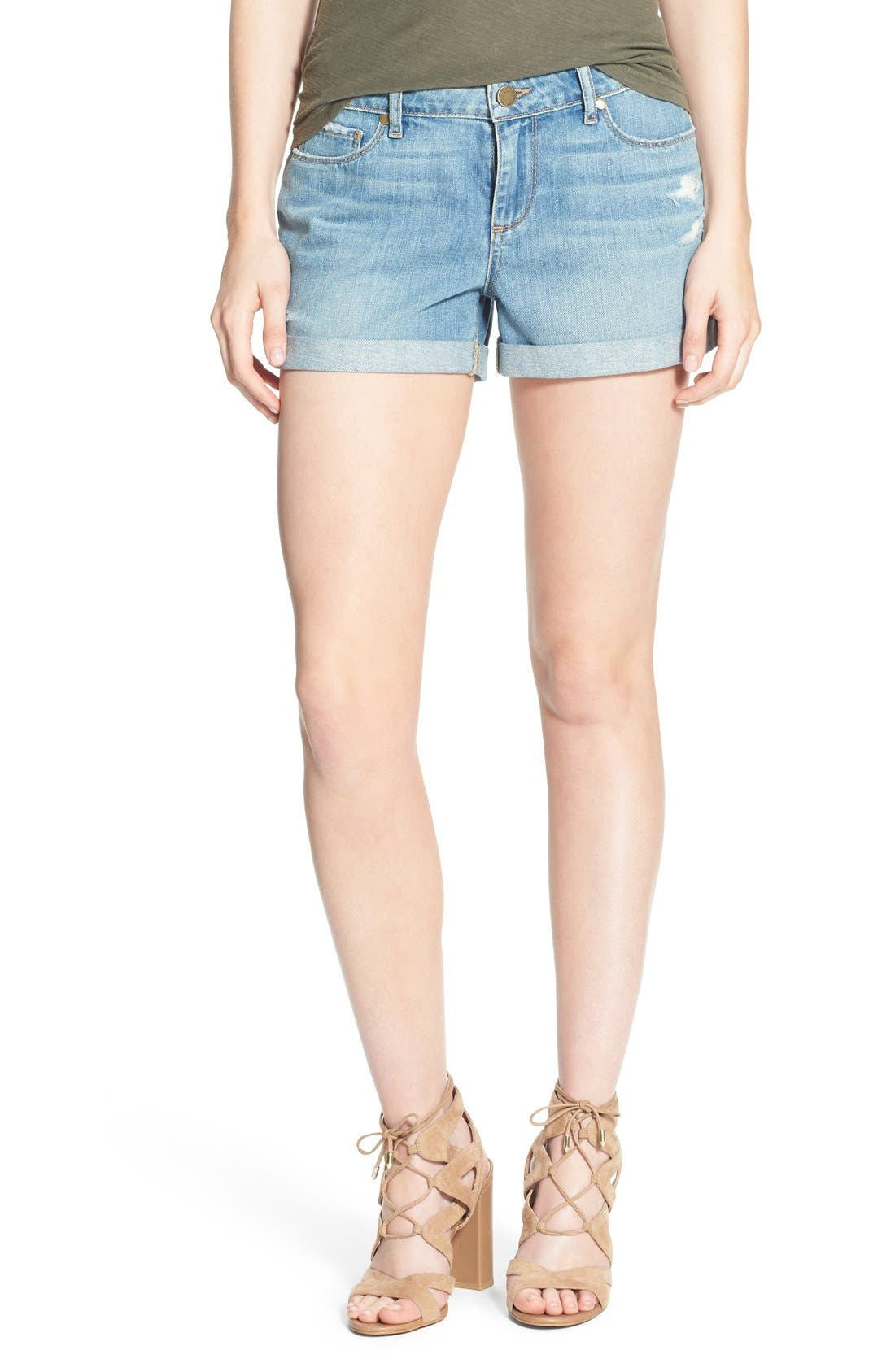 Alternate Image 1 Selected - PAIGE 'Jimmy Jimmy' Denim Shorts (Annora)