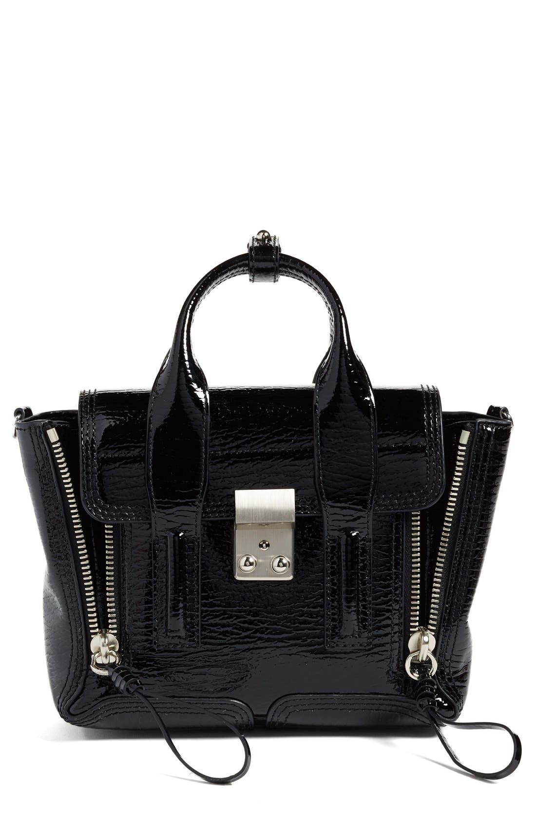 3.1 Phillip Lim 'Mini Pashli' Shark Embossed Leather Satchel