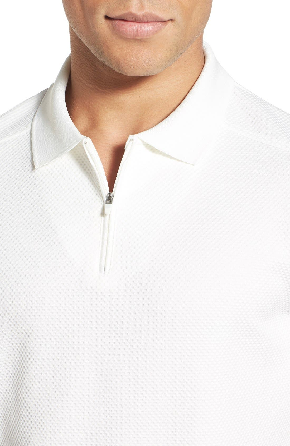Alternate Image 4  - Vince Camuto Slim Fit Mesh Polo