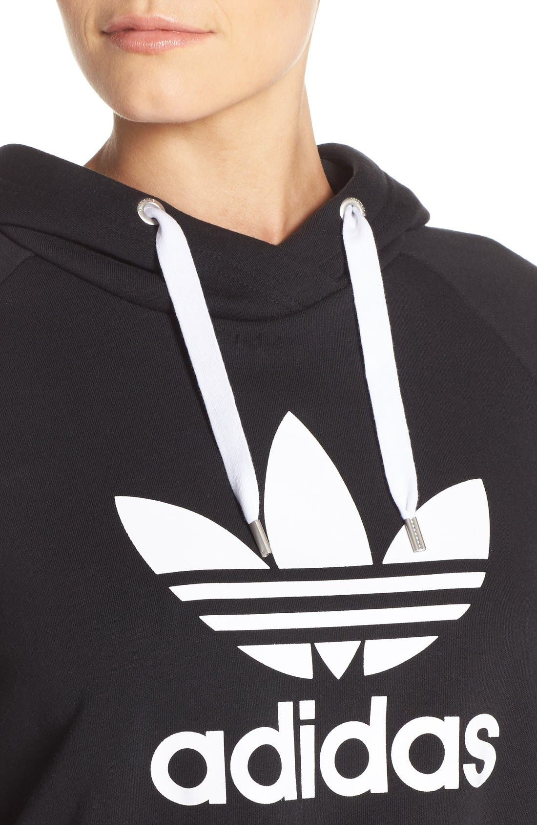Alternate Image 4  - adidas Originals Crop Hoodie