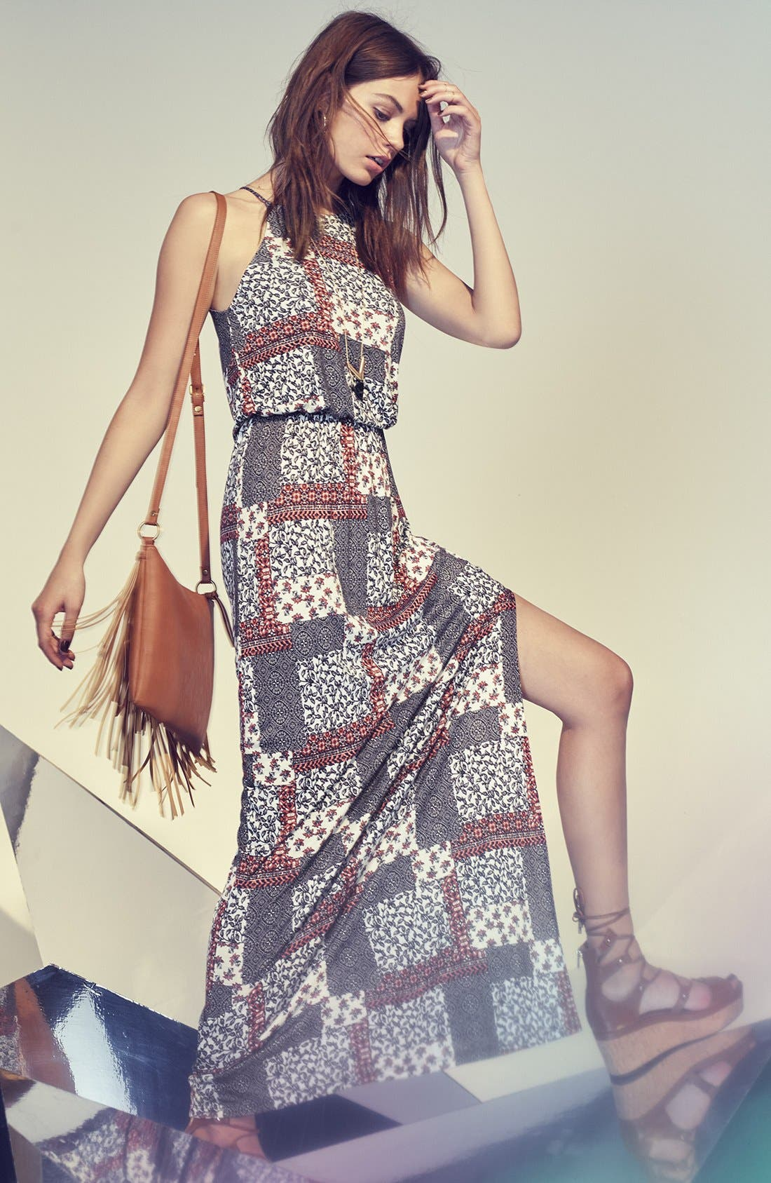 Alternate Image 8  - Lush High Neck Maxi Dress
