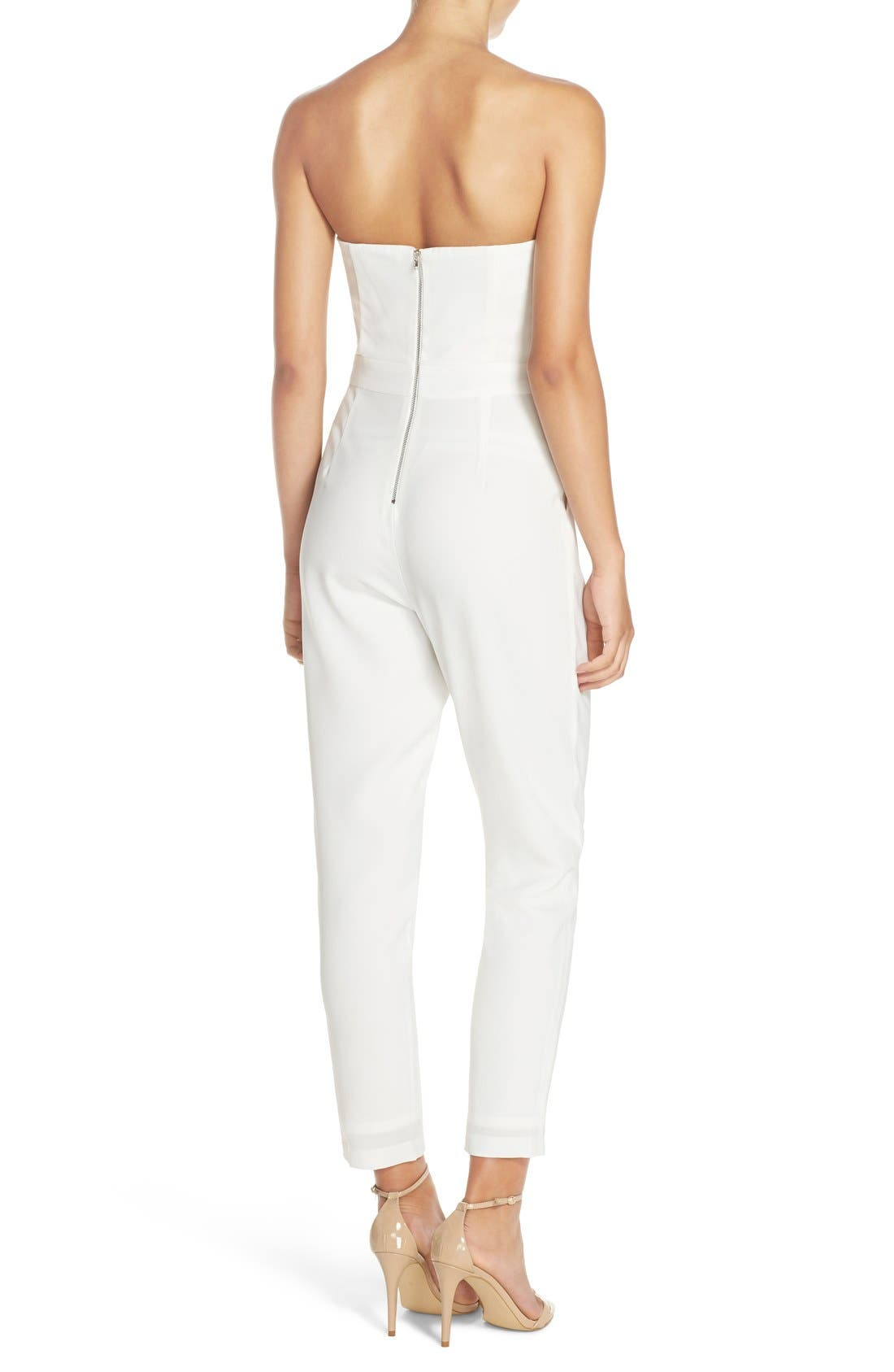 Alternate Image 2  - Adelyn Rae Strapless Lace-Up Jumpsuit