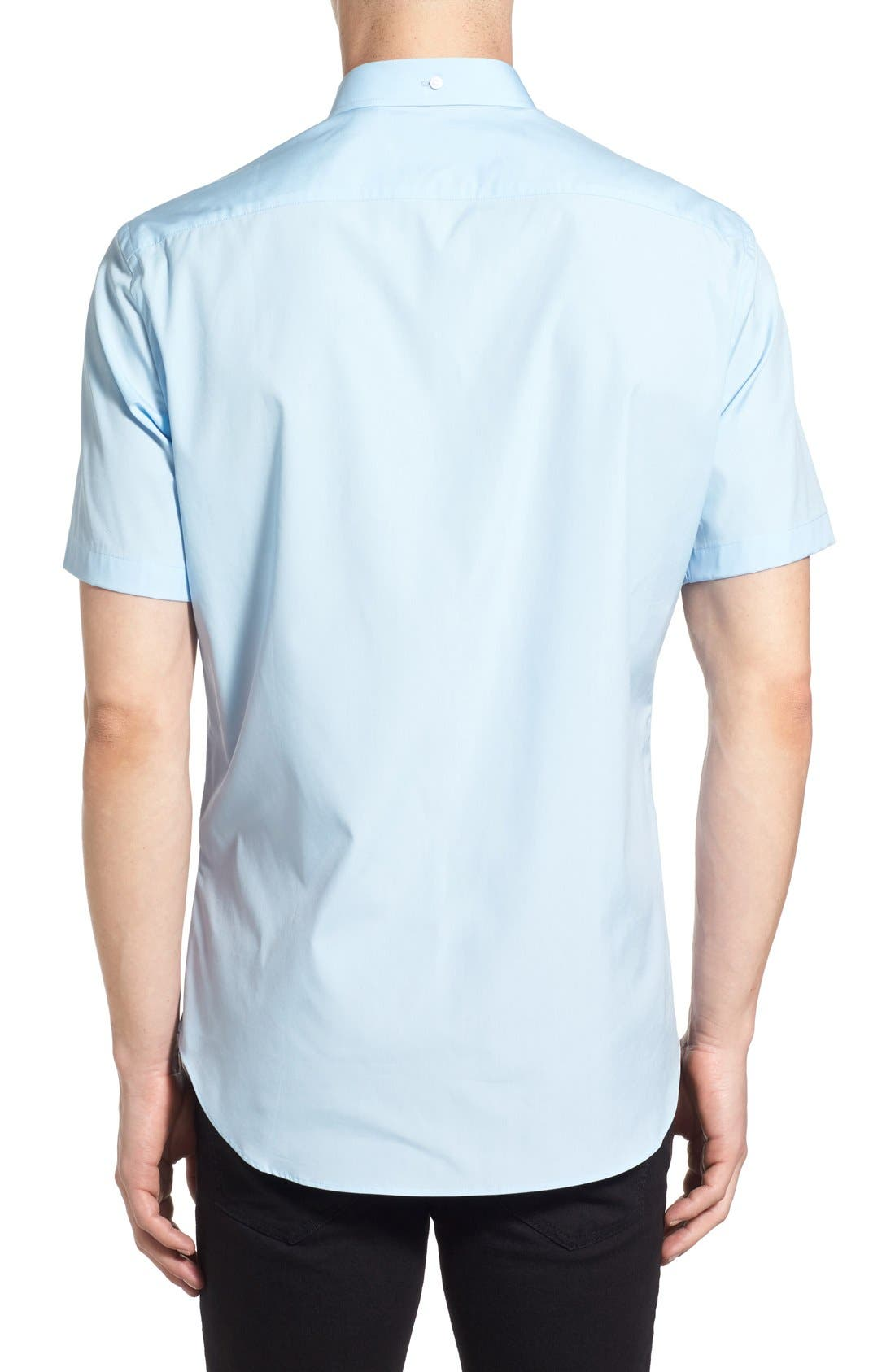 Cambridge Aboyd Sport Shirt,                             Alternate thumbnail 3, color,                             Pale Blue