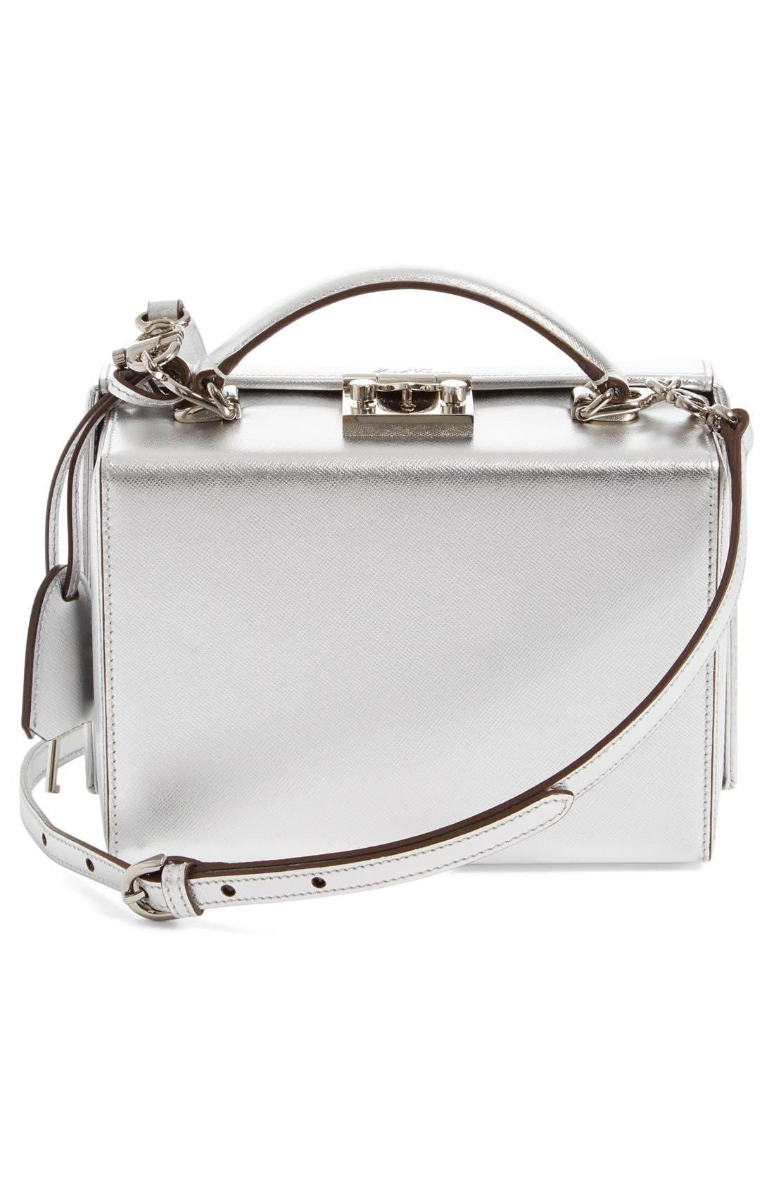 Alternate Image 2  - Mark Cross 'Small Grace' Metallic Saffiano Leather Box Clutch