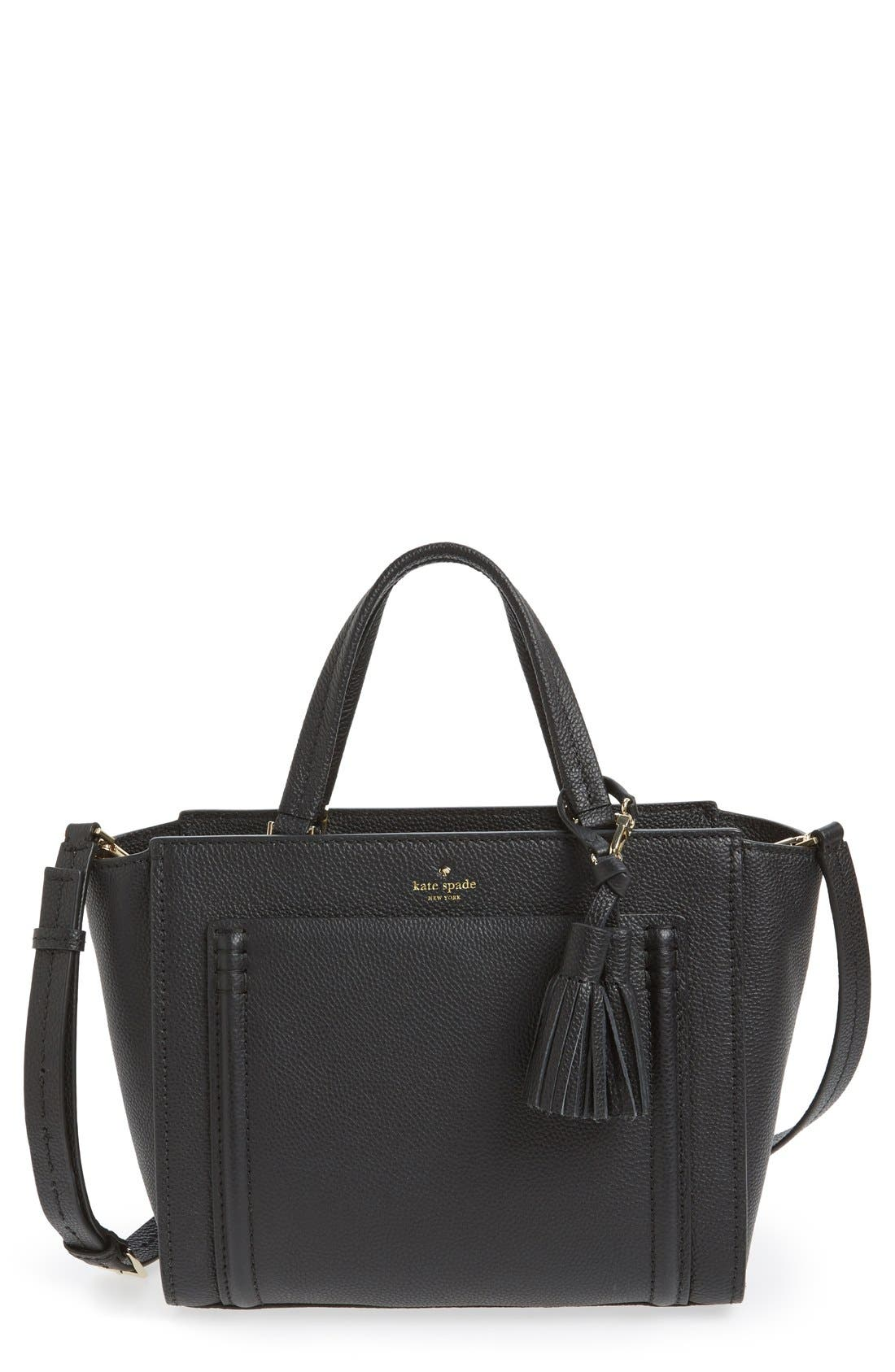 Main Image - kate spade new york 'orchard street - dillon' tassel leather satchel