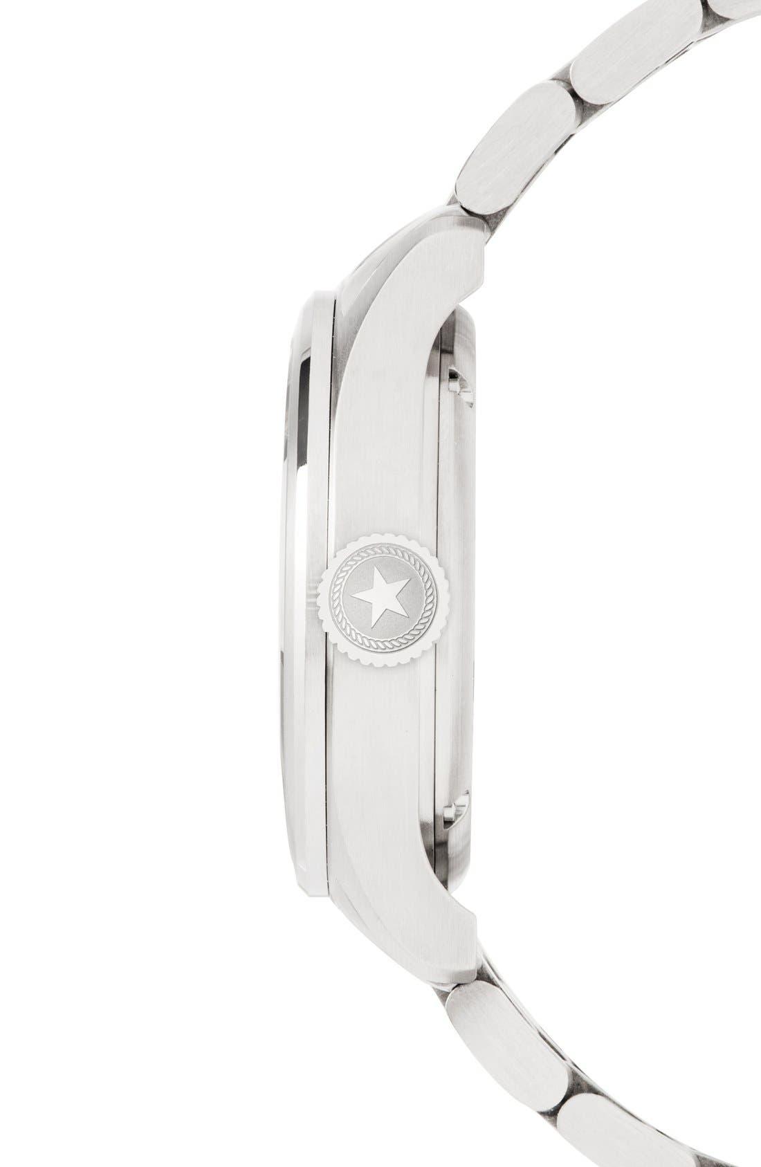 Automatic Bracelet Watch, 42mm,                             Alternate thumbnail 3, color,                             Silver/ Navy