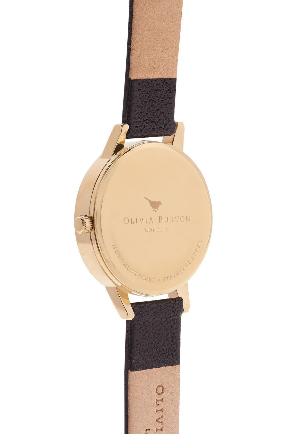 Alternate Image 3  - Olivia Burton 'The Dandy' Leather Strap Watch, 30mm