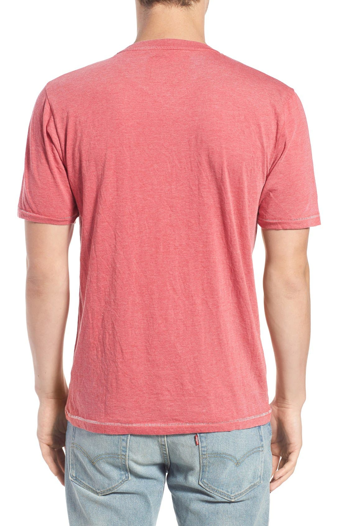 Alternate Image 2  - Red Jacket 'California Angels' Graphic V-Neck T-Shirt
