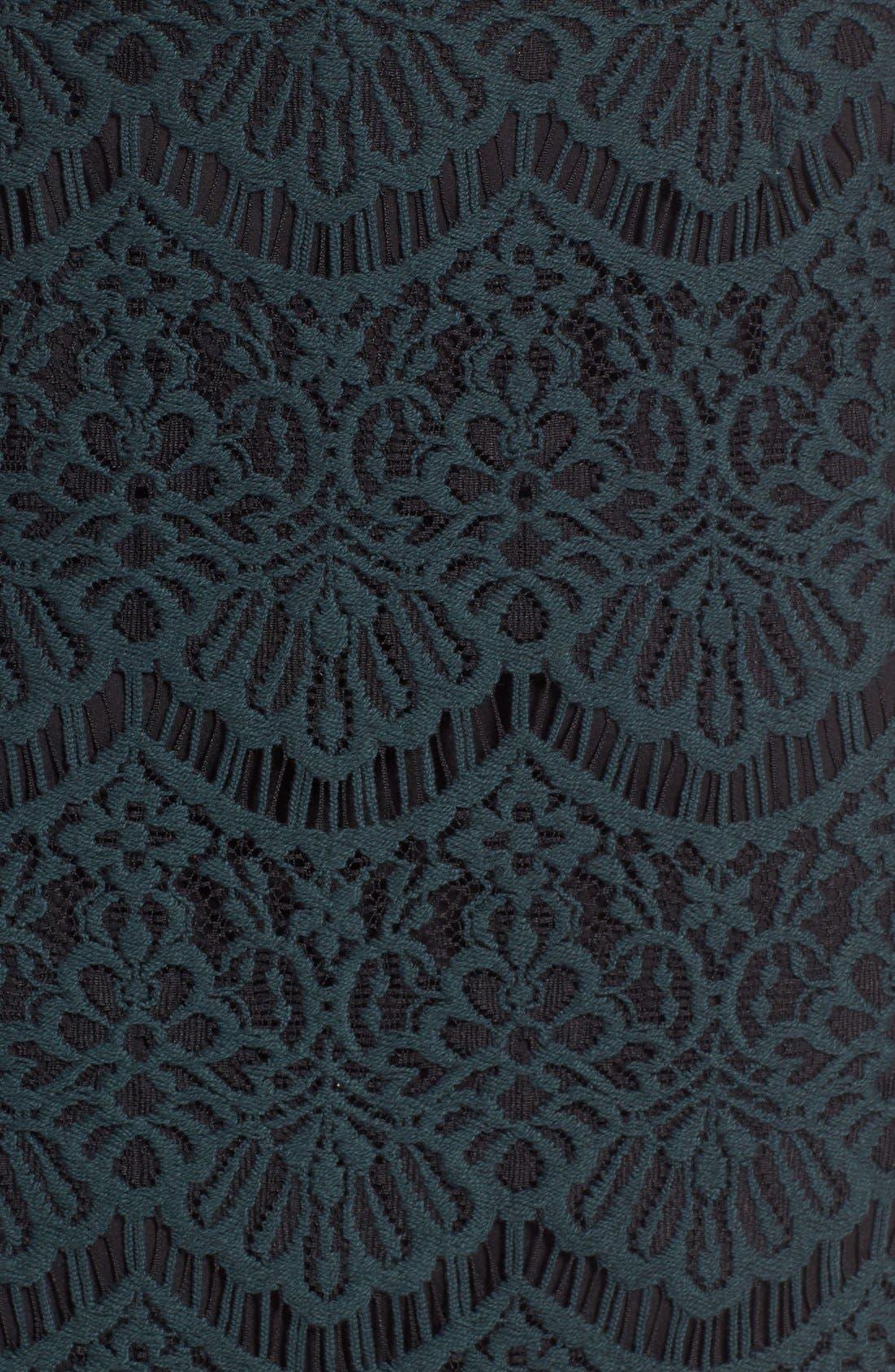 Alternate Image 5  - Halogen® Scallop Edge Lace Skirt (Regular & Petite)