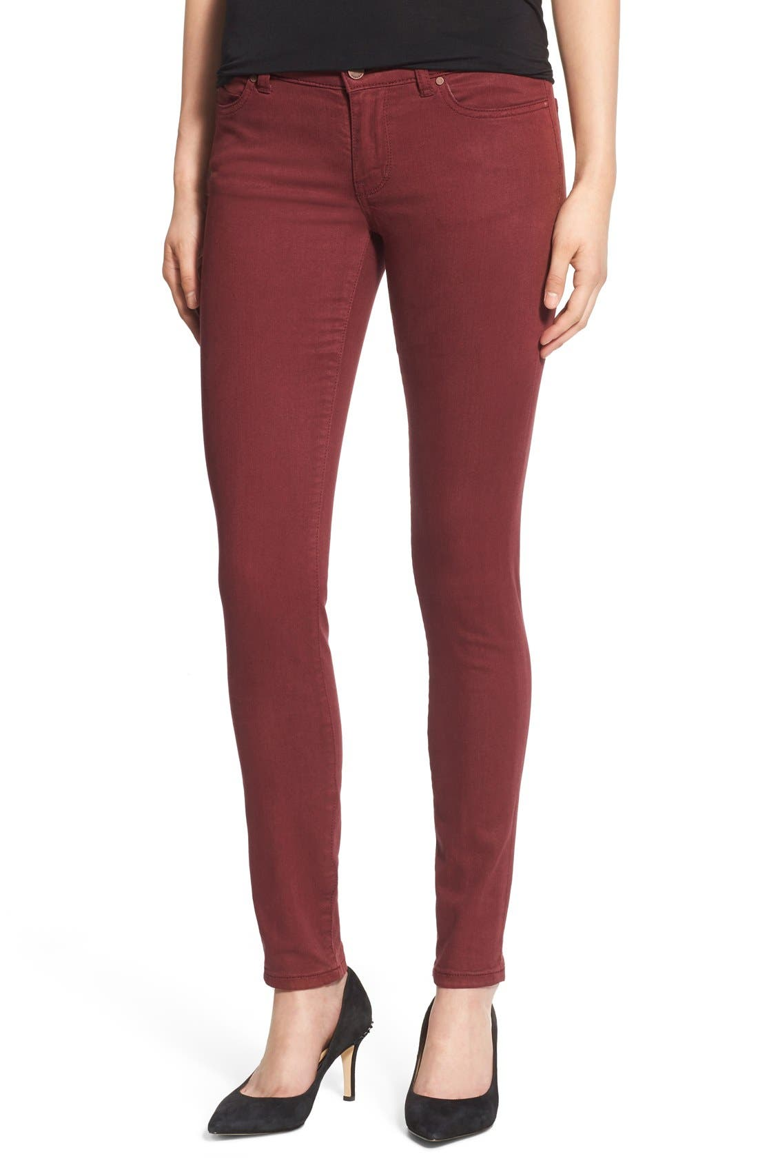 Main Image - Caslon® Colored Stretch Skinny Jeans