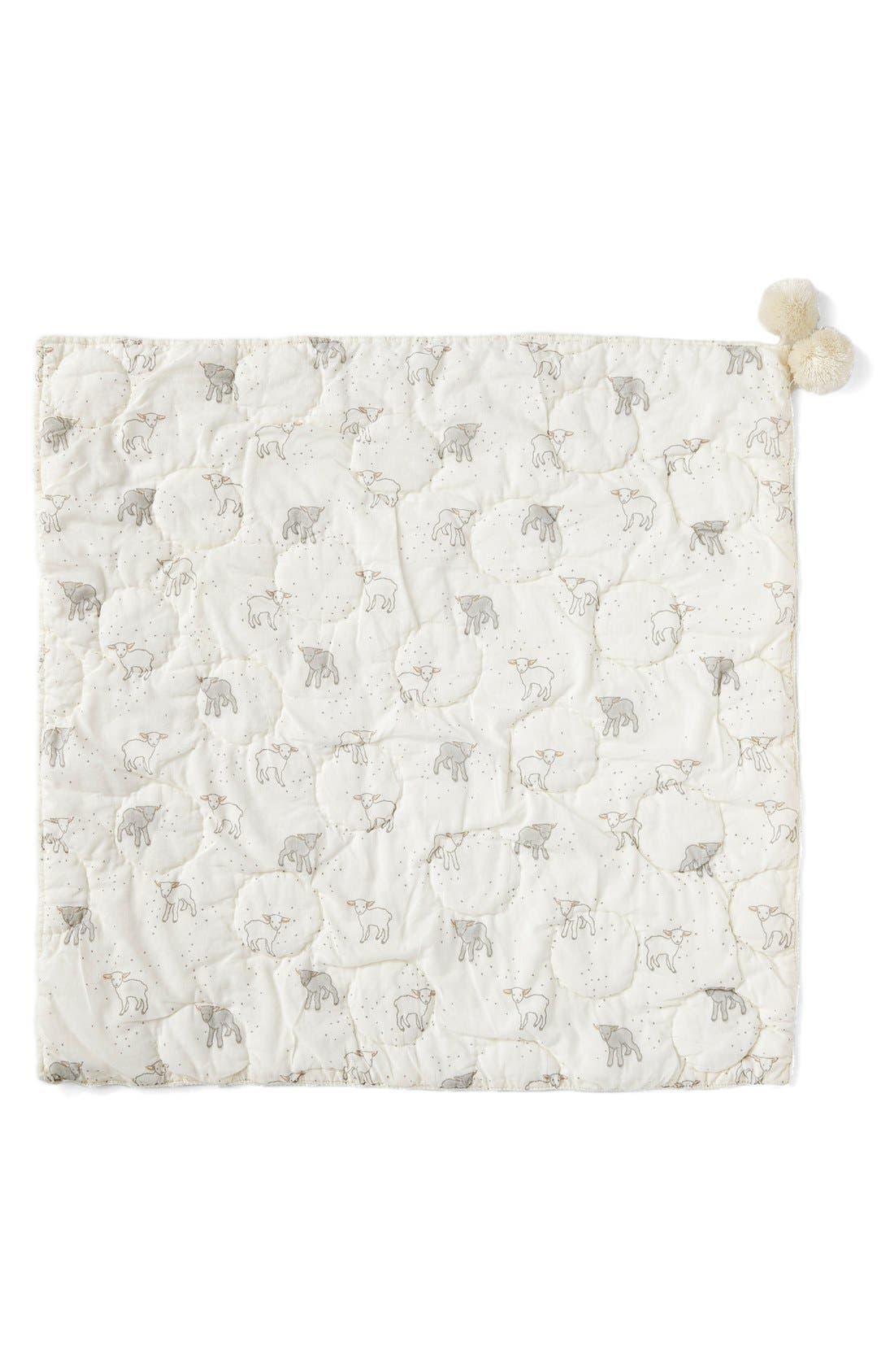 Little Lamb Baby Blanket,                             Alternate thumbnail 2, color,                             Cream