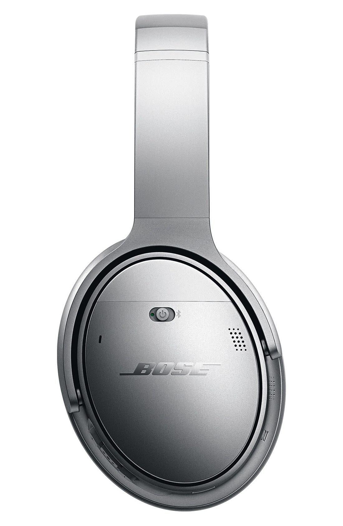 QuietComfort<sup>®</sup> 35 Acoustic Noise Cancelling<sup>®</sup> Bluetooth<sup>®</sup> Headphones,                             Alternate thumbnail 5, color,                             Silver