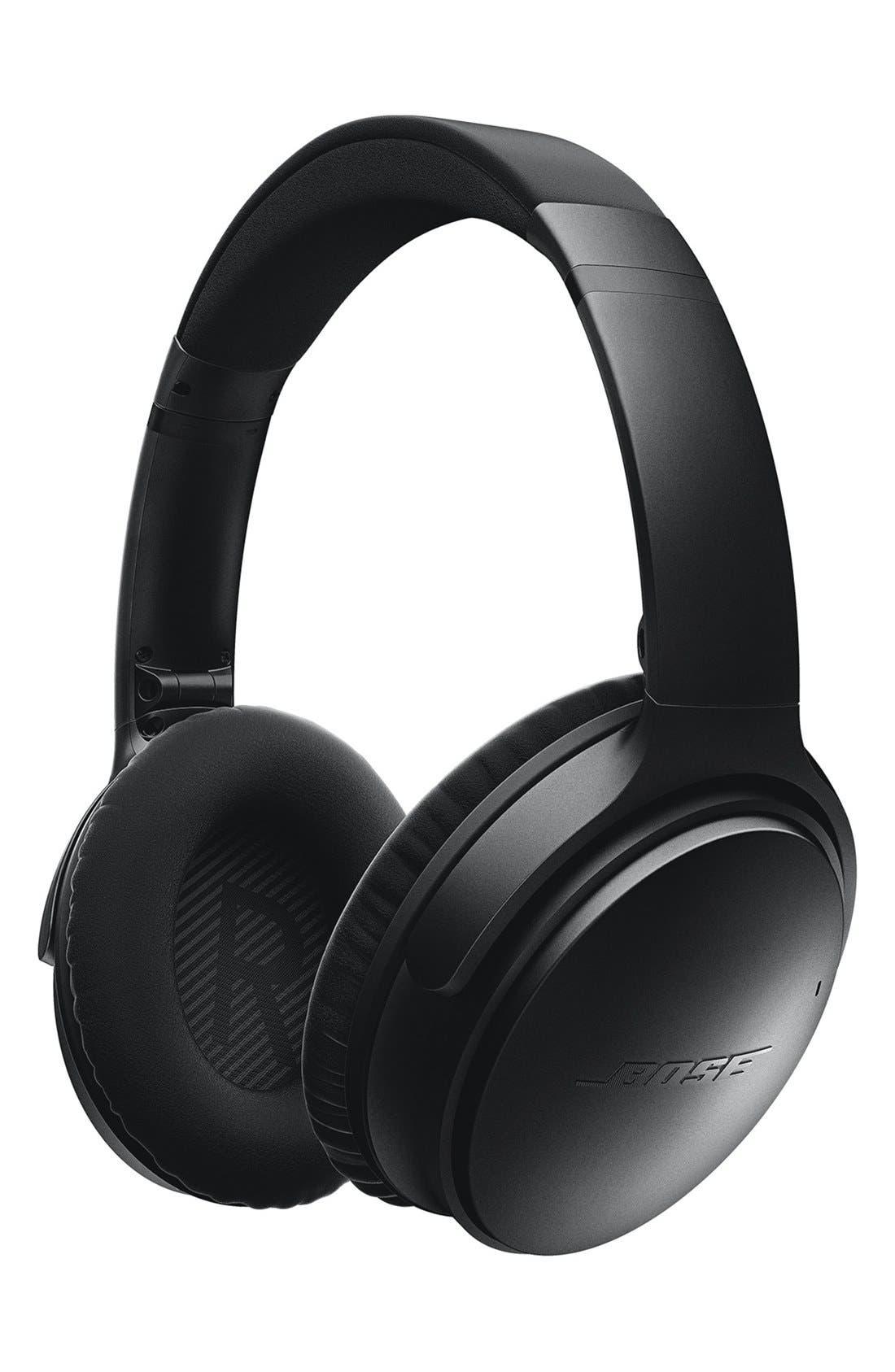 QuietComfort<sup>®</sup> 35 Acoustic Noise Cancelling<sup>®</sup> Bluetooth<sup>®</sup> Headphones,                             Alternate thumbnail 2, color,                             Black