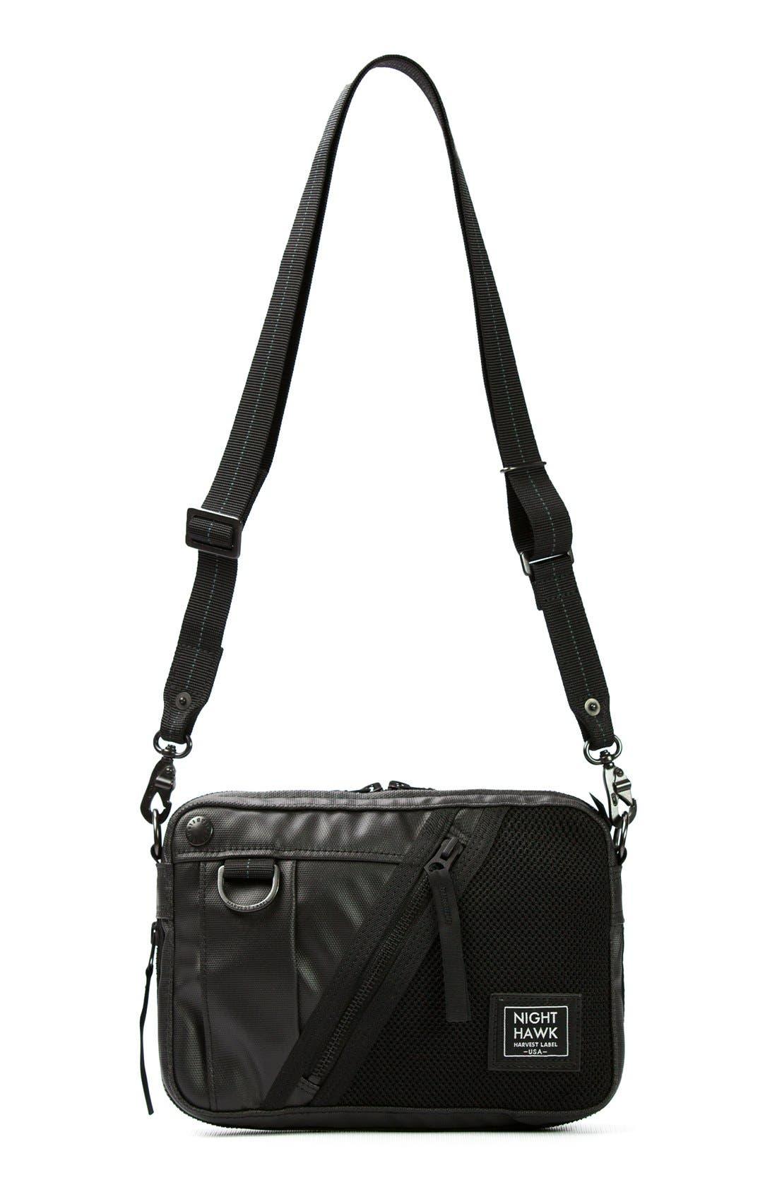 'NightHawk' Shoulder Bag,                             Main thumbnail 1, color,                             Black