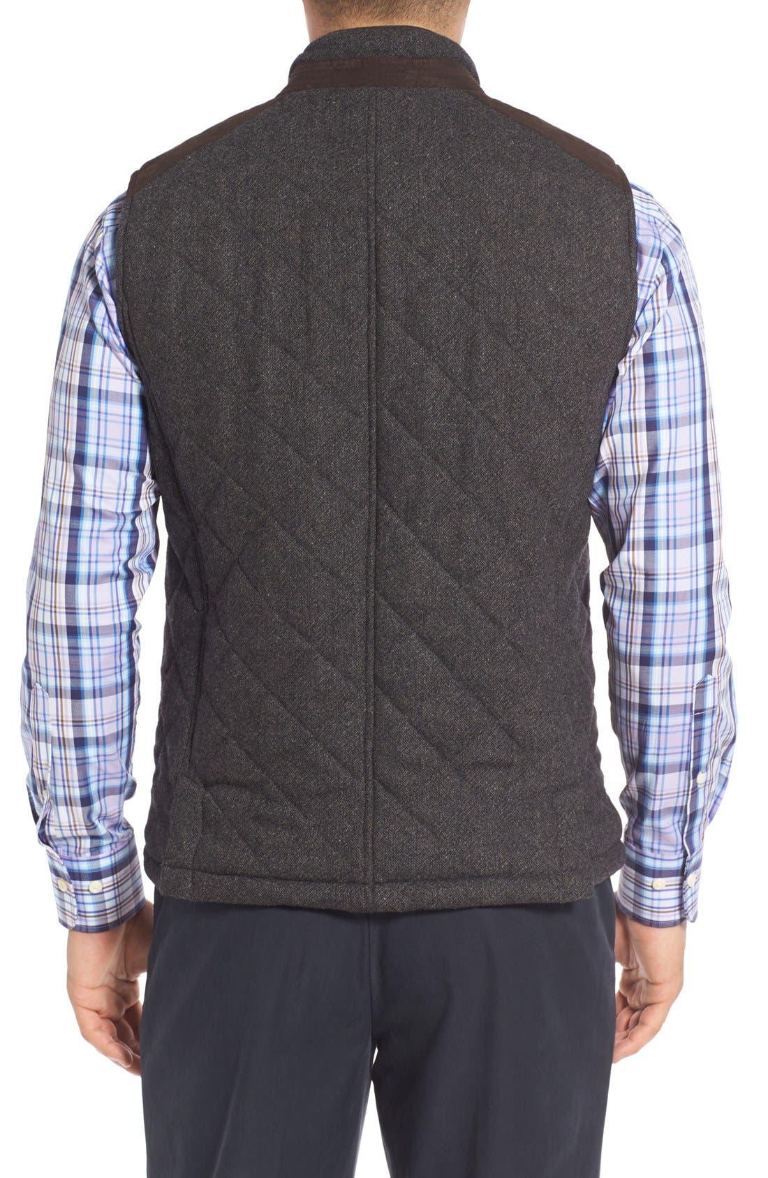 Alternate Image 2  - John W. Nordstrom Regular Fit Quilted Tweed Vest