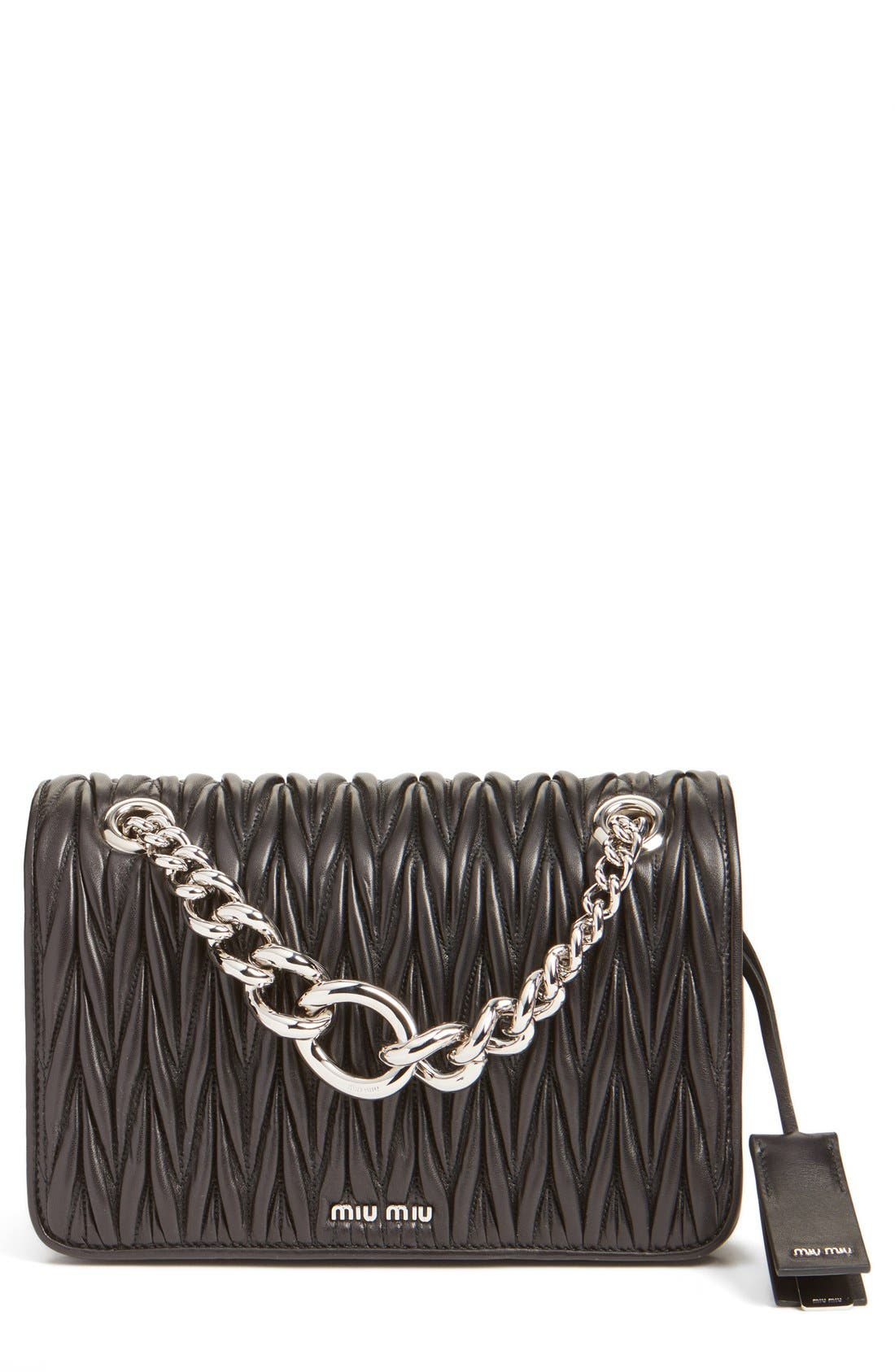 Miu Miu 'Club' Matelassé Leather Shoulder Bag