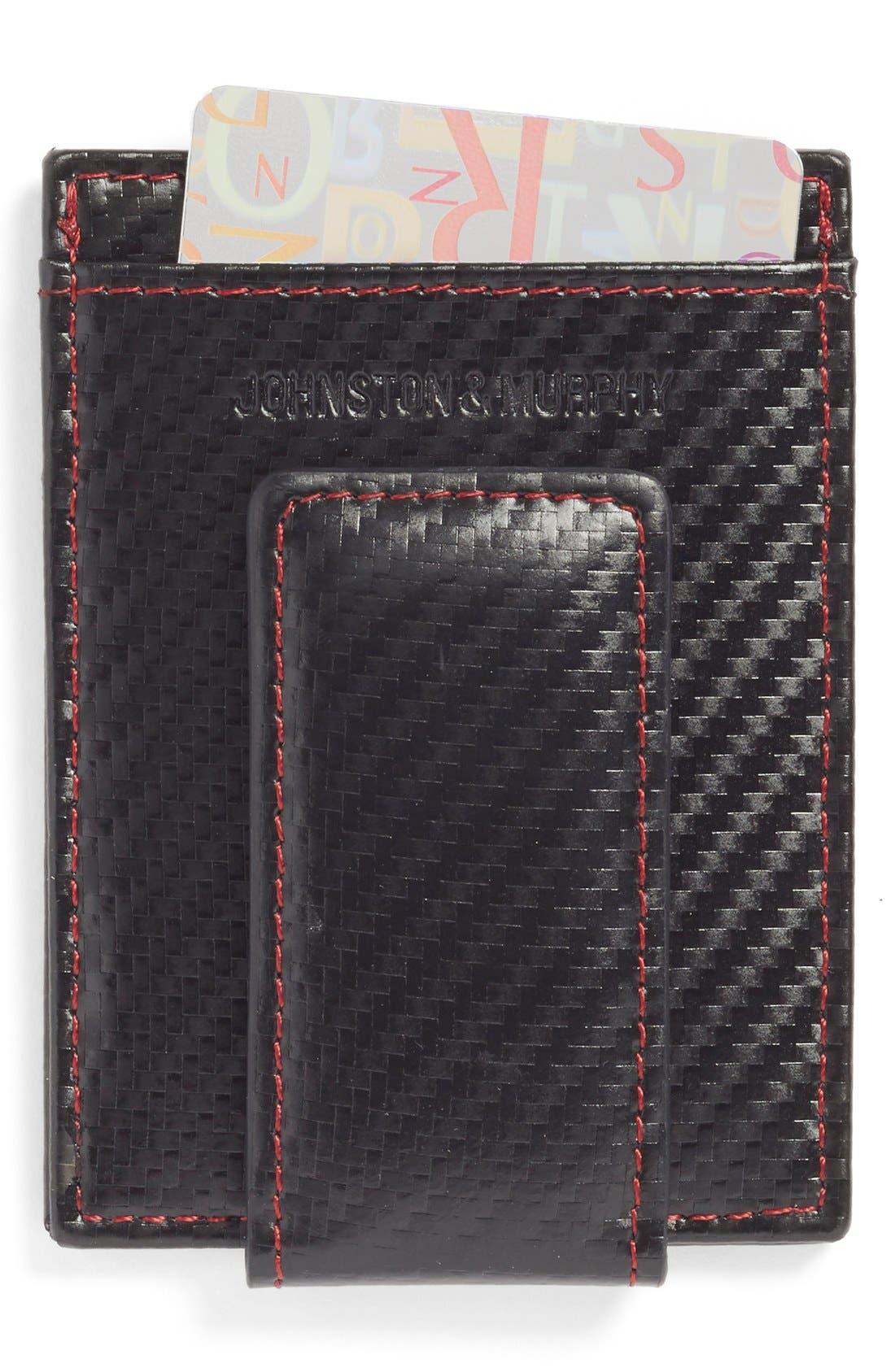 Johnston & Murphy Money Clip Card Case
