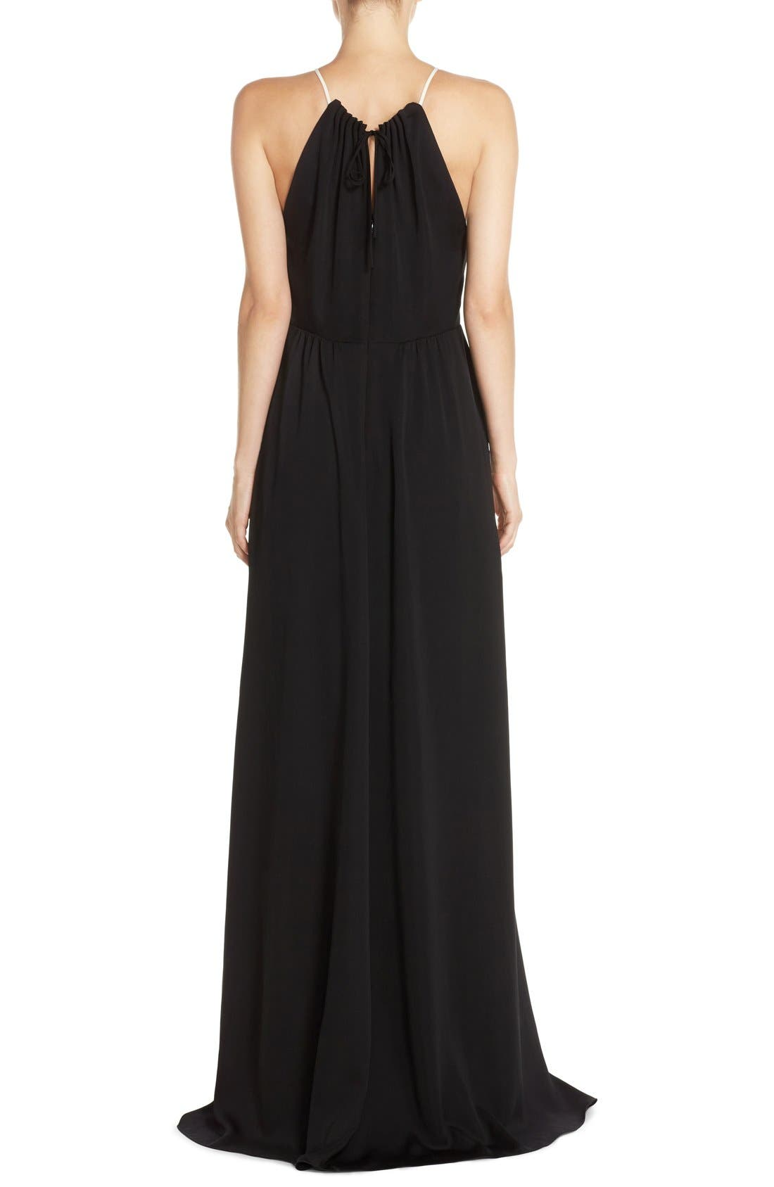 Alternate Image 2  - Halston Heritage Colorblock Crepe Gown