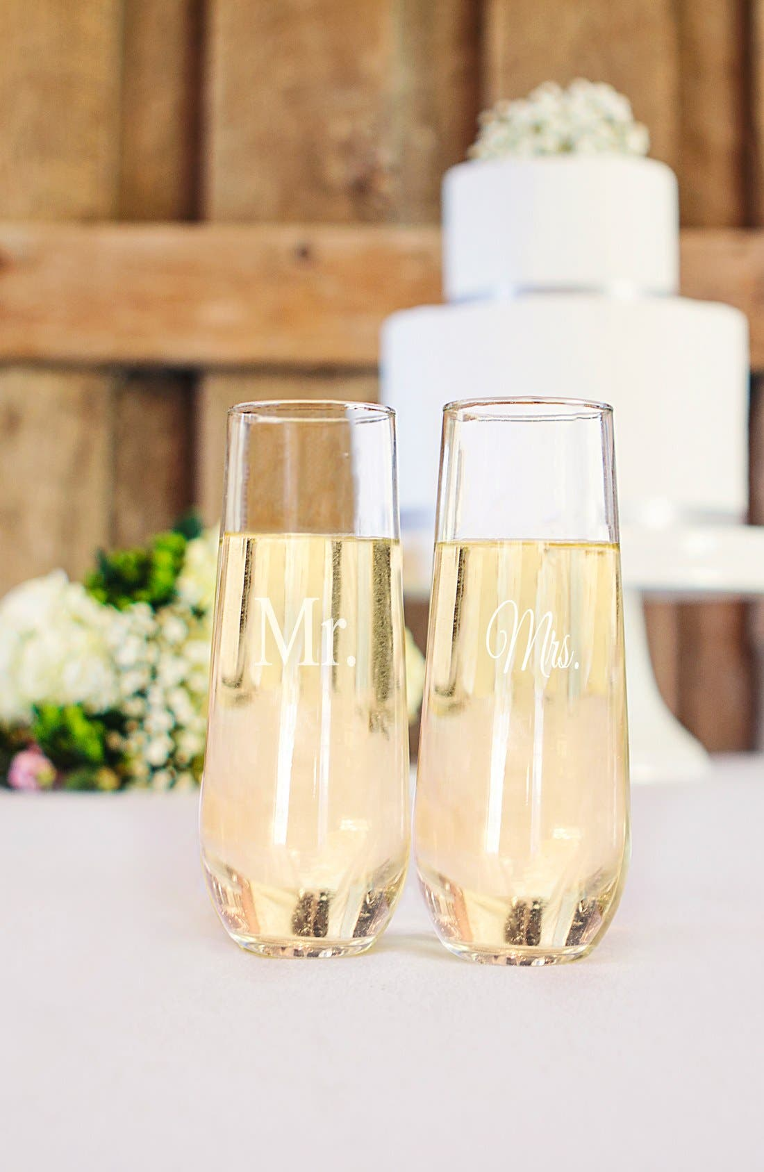 Alternate Image 3  - Cathy's Concepts 'For the Couple' Stemless Champagne Flutes (Set of 2)
