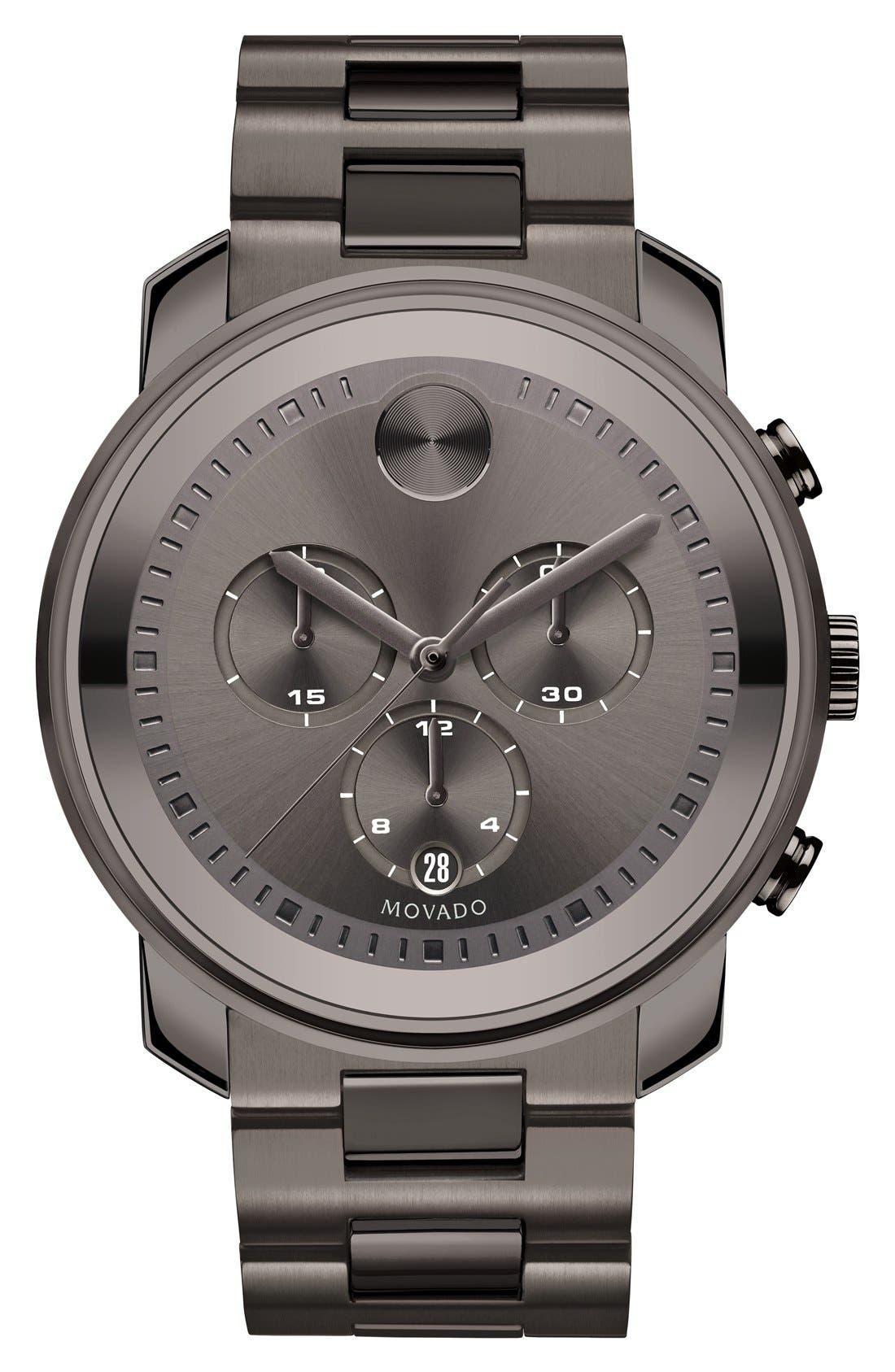 Bold Chronograph Bracelet Watch, 44mm,                         Main,                         color, Gunmetal