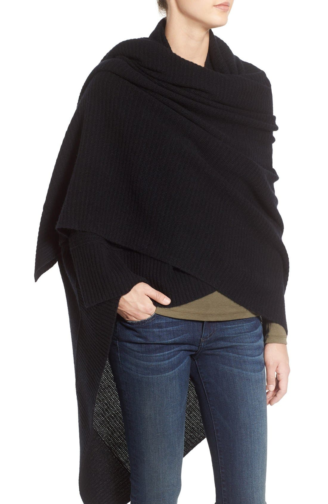 Alternate Image 4  - Halogen® Rib Knit Cashmere Wrap