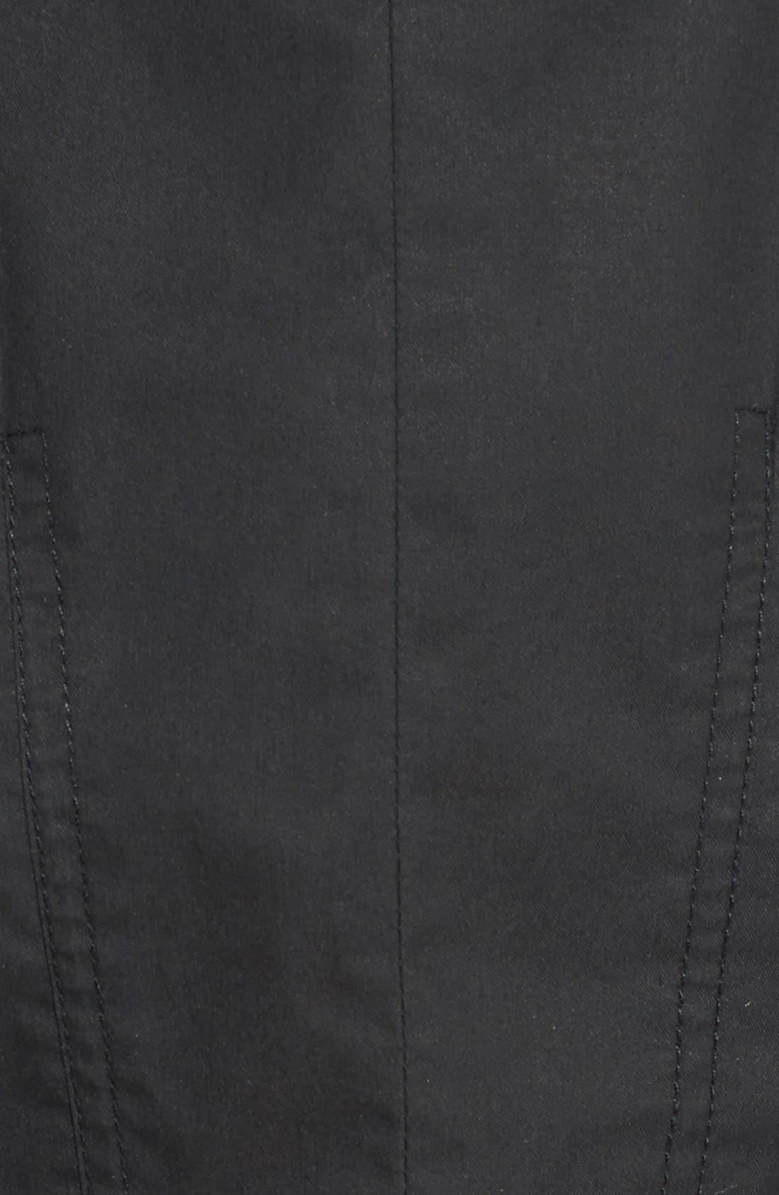 Alternate Image 5  - Halogen® Hooded Parka with Faux Fur Trim (Regular & Petite)