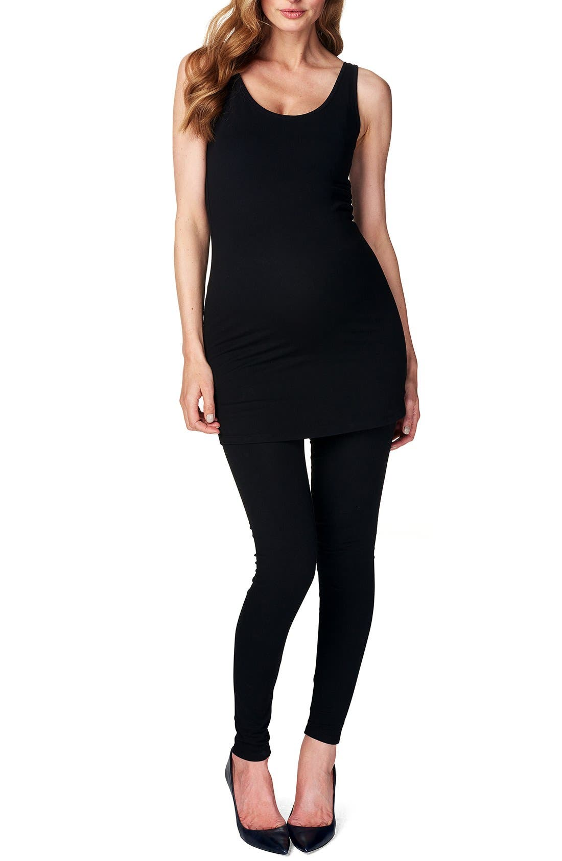 Alternate Image 1 Selected - Noppies 'Amsterdam' Scoop Neck Long Maternity Top