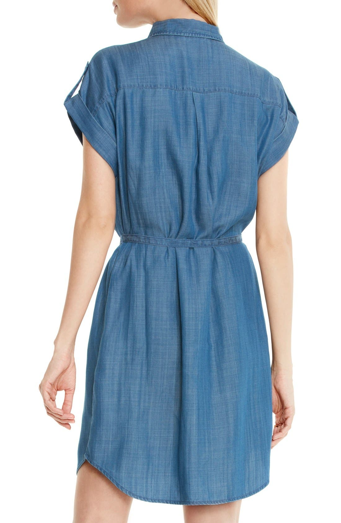 Alternate Image 3  - Two by Vince Camuto Belted Chambray Shirtdress