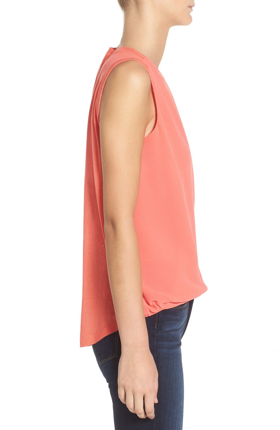 'Maiden' Surplice Front Top,                             Alternate thumbnail 3, color,                             Pacific Coral