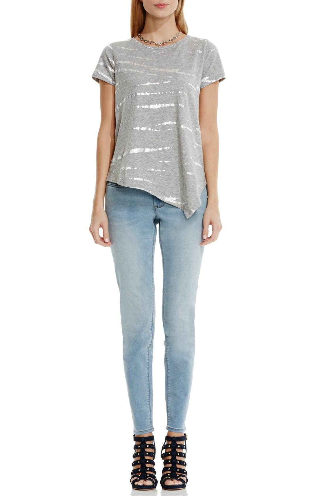 Alternate Image 2  - Two by Vince Camuto Foiled Tie Dye Tee