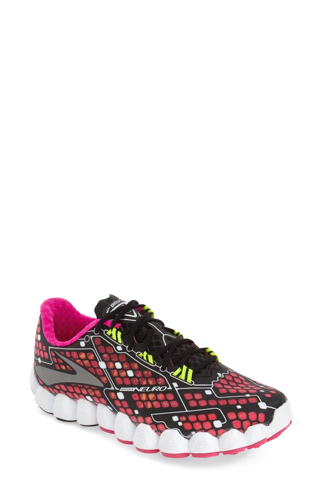 'Neuro' Running Shoe,                             Main thumbnail 1, color,                             Pink/ Black